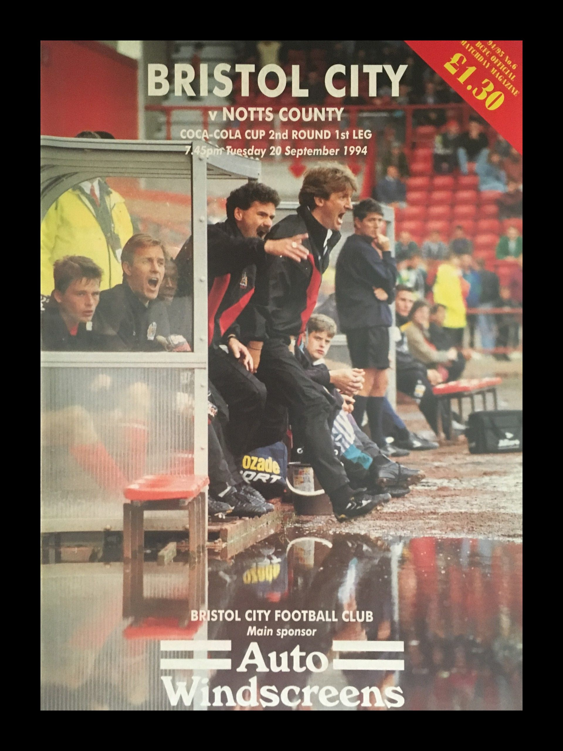 Bristol City v Notts County 20-09-1994 Programme