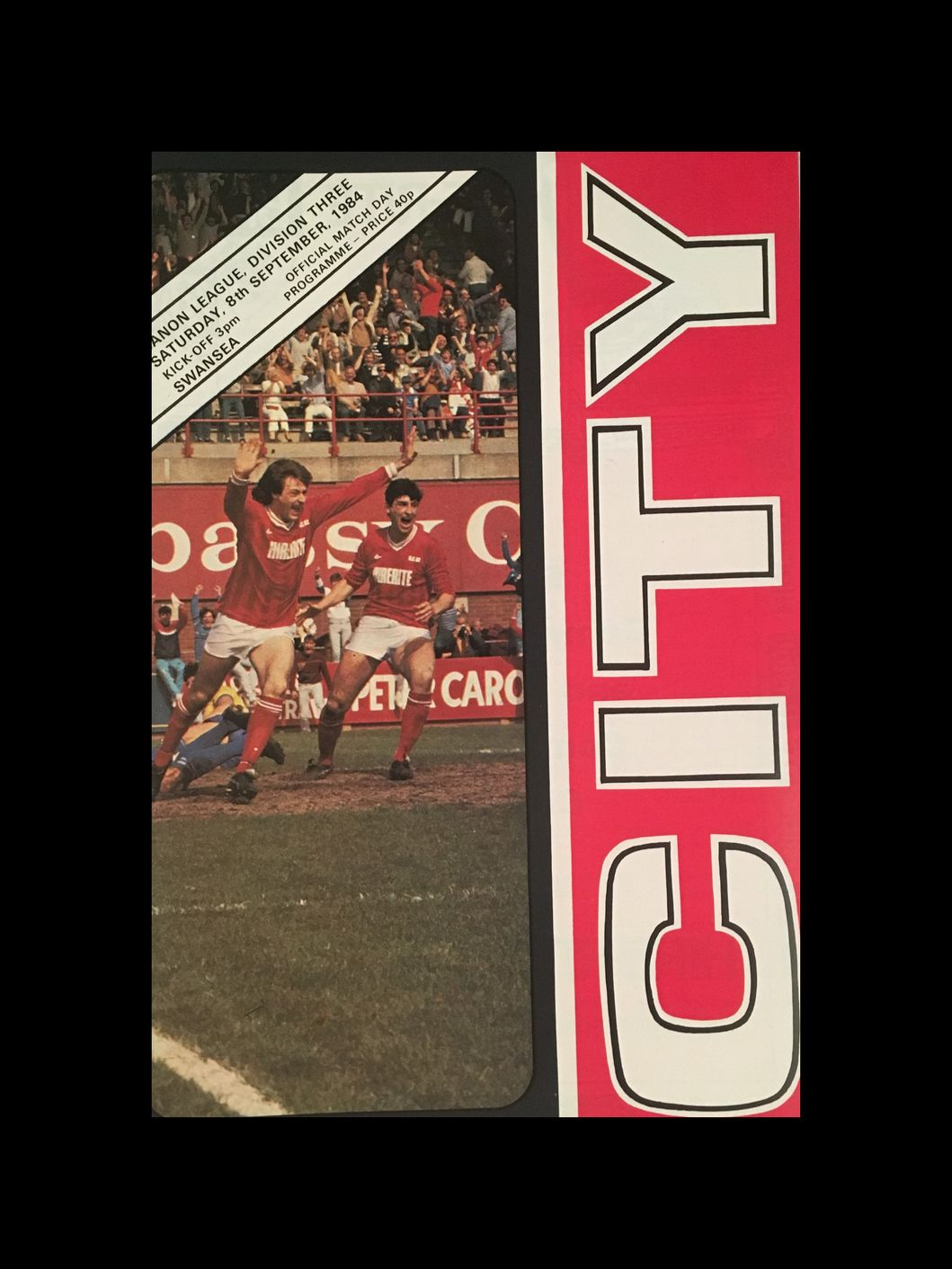 Bristol City v Swansea City 08-09-84 Programme