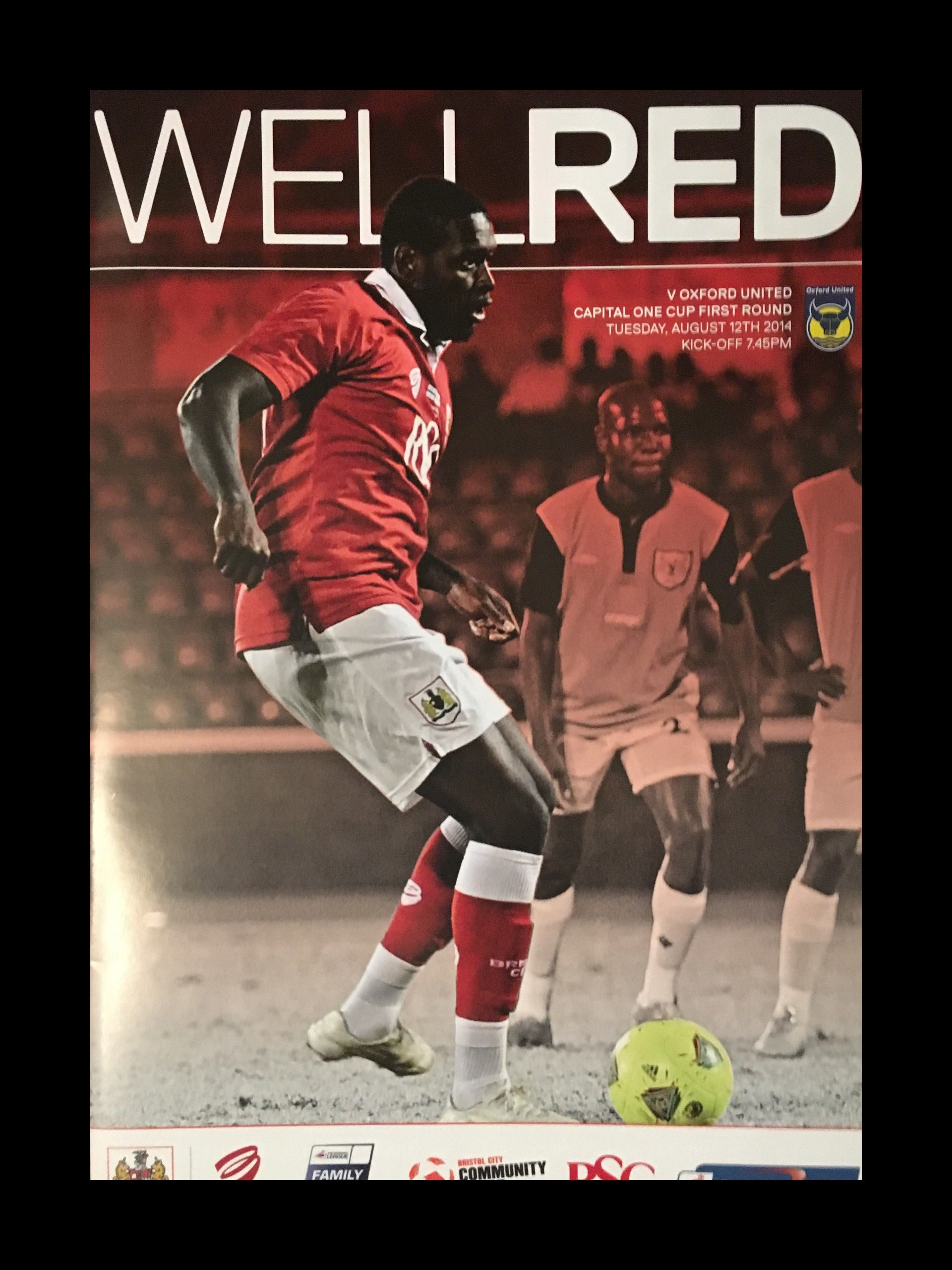 Bristol City v Oxford United 12-08-2014 Programme