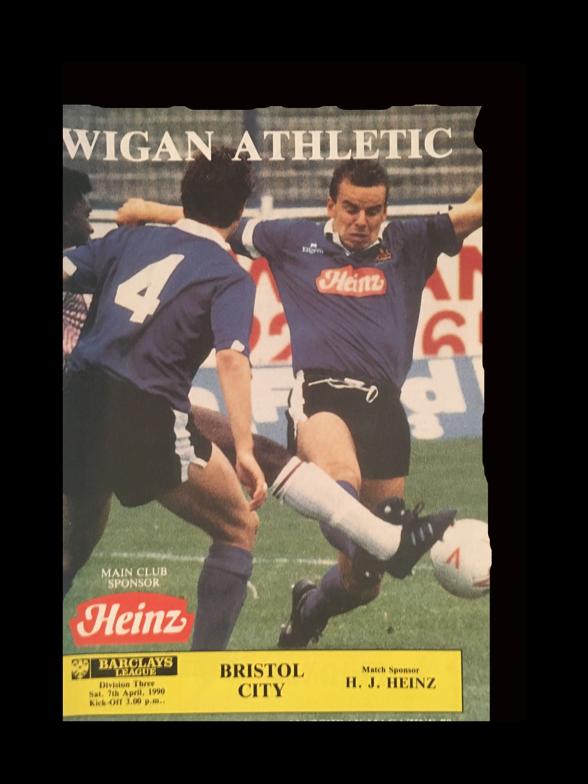 Wigan Athletic v Bristol City 07-04-1990 Programme