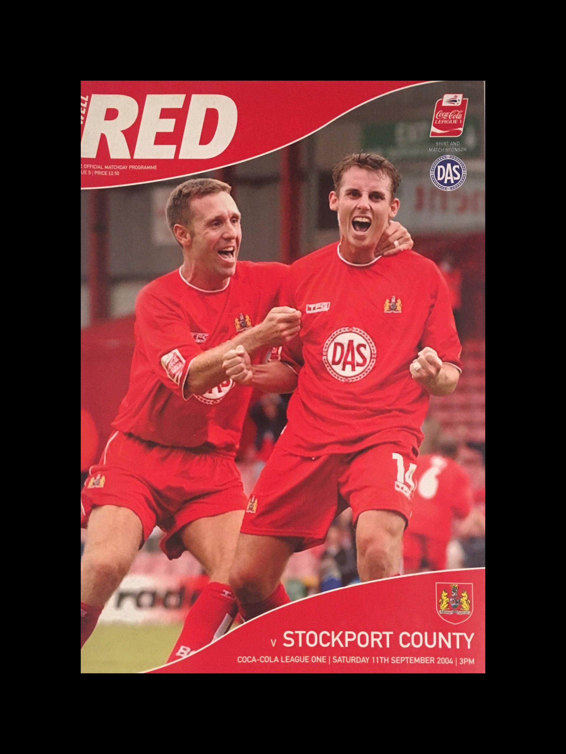 Bristol City v Stockport County 11-09-2004 Programme