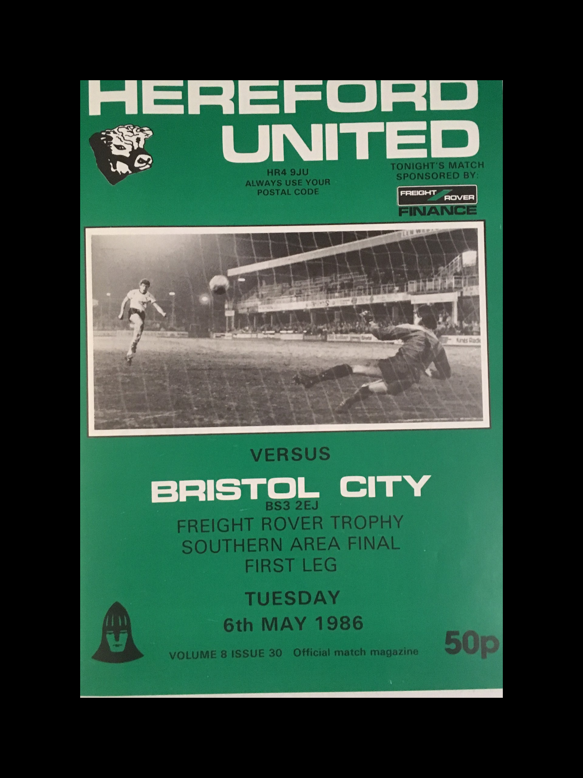 Hereford United v Bristol City 06-05-86 Programme