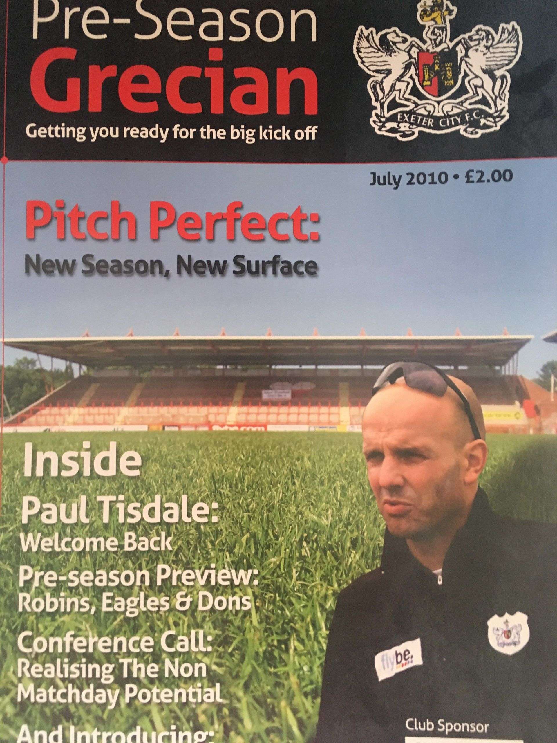 Exeter City v Bristol City July 2010 Programme
