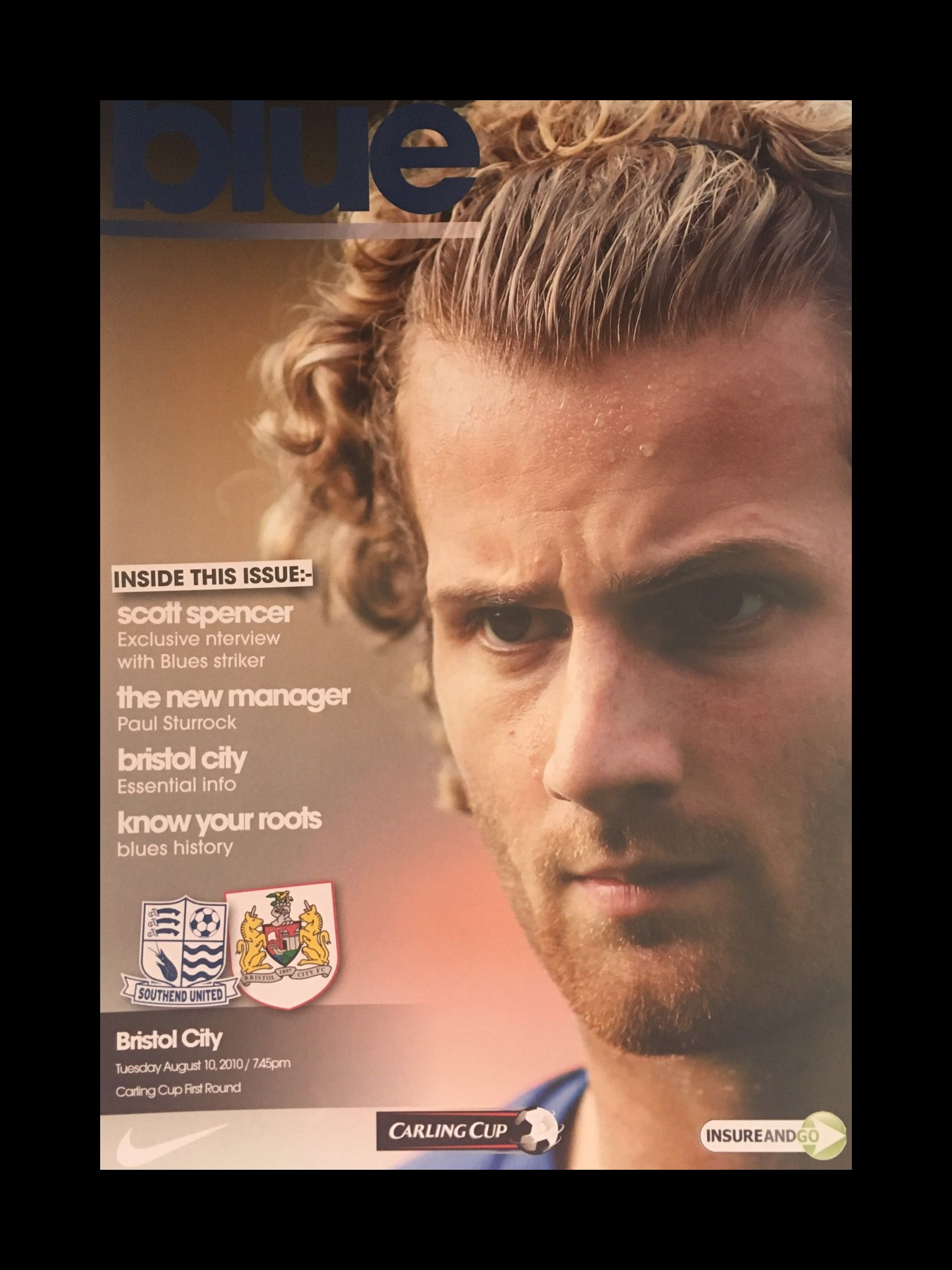 Southend United v Bristol City 10-08-2010 Programme