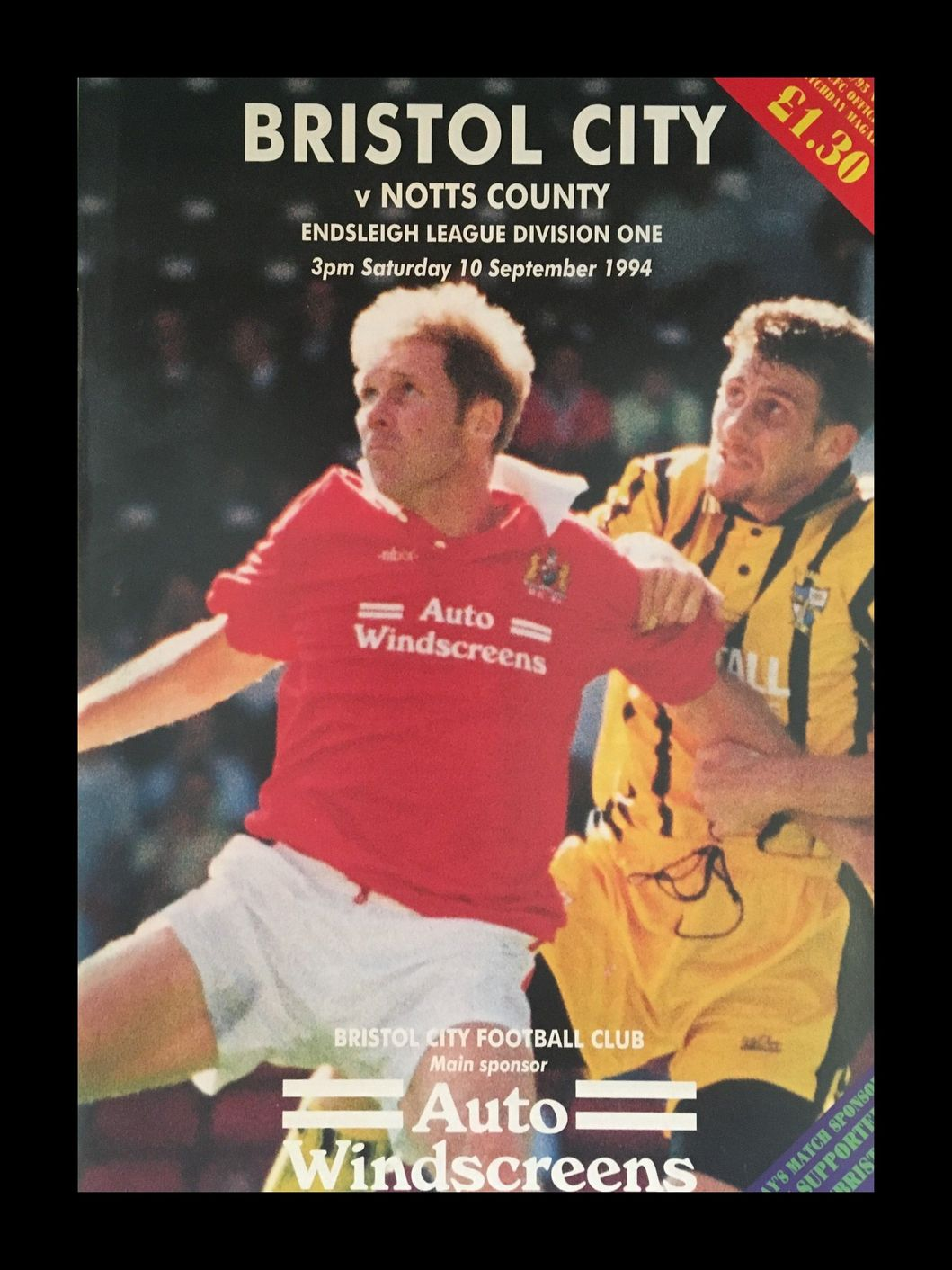 Bristol City v Notts County 10-09-1994 Programme