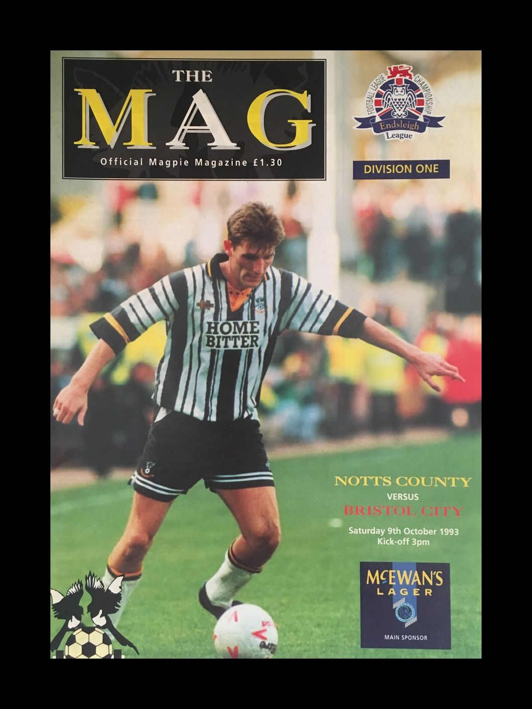 Notts County v Bristol City 09-10-1993 Programme