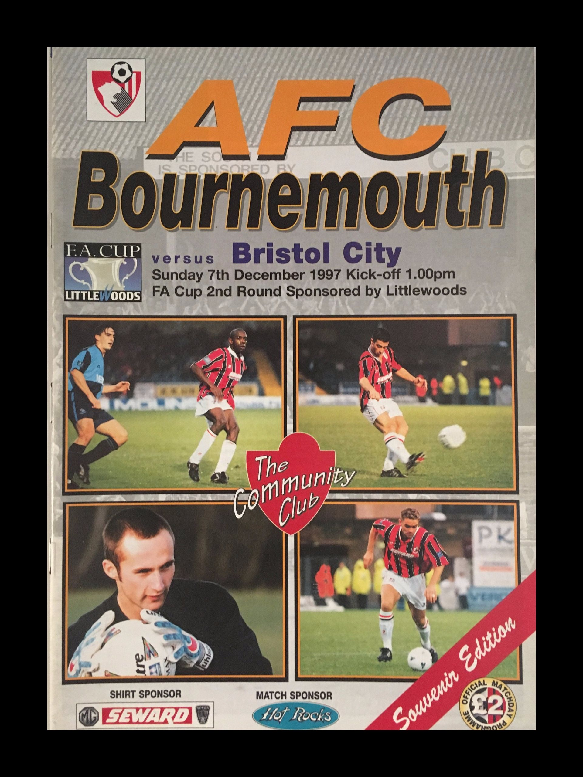 AFC Bournemouth v Bristol City 07-12-1997 Programme