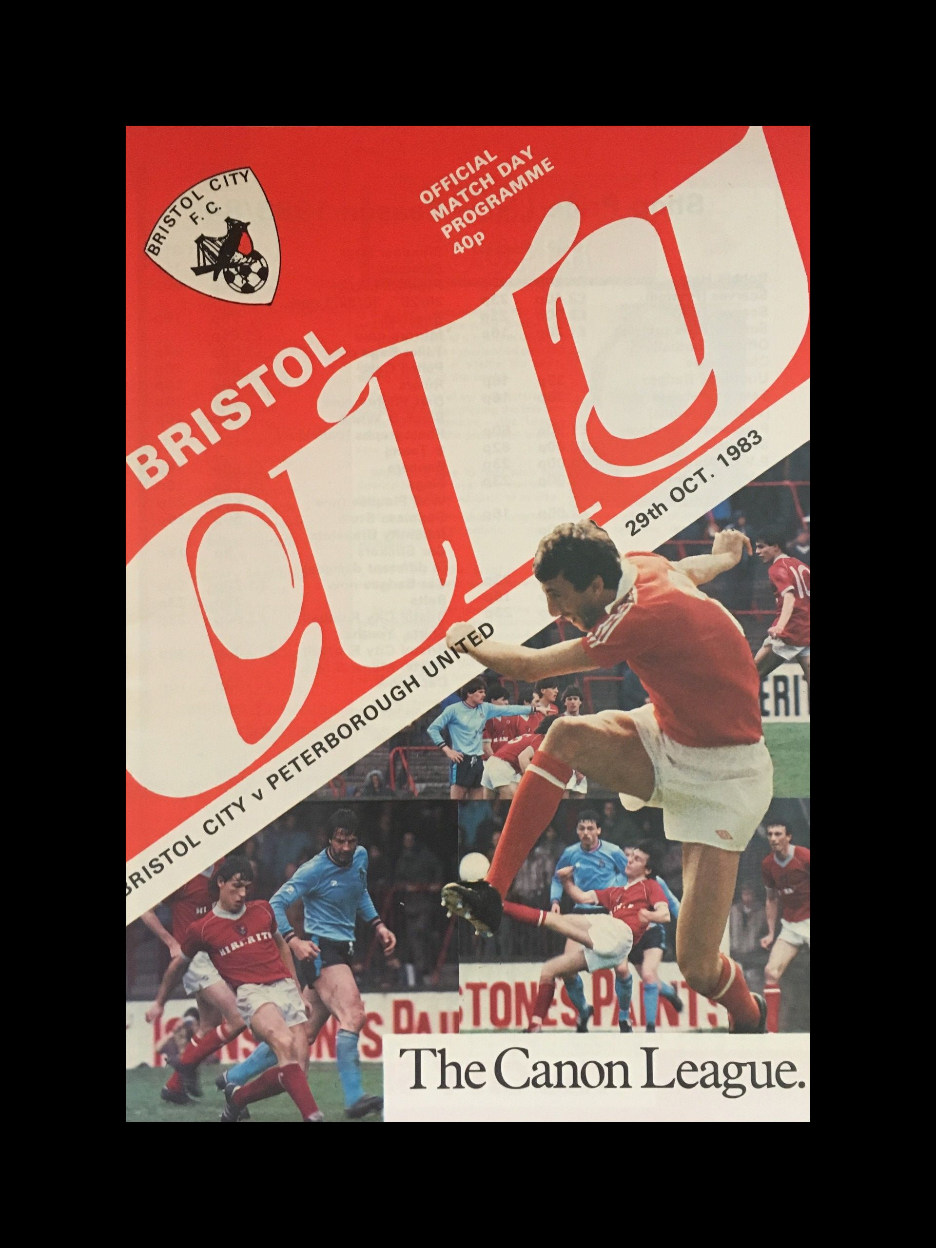 Bristol City v Peterborough United 29-10-83 Programme