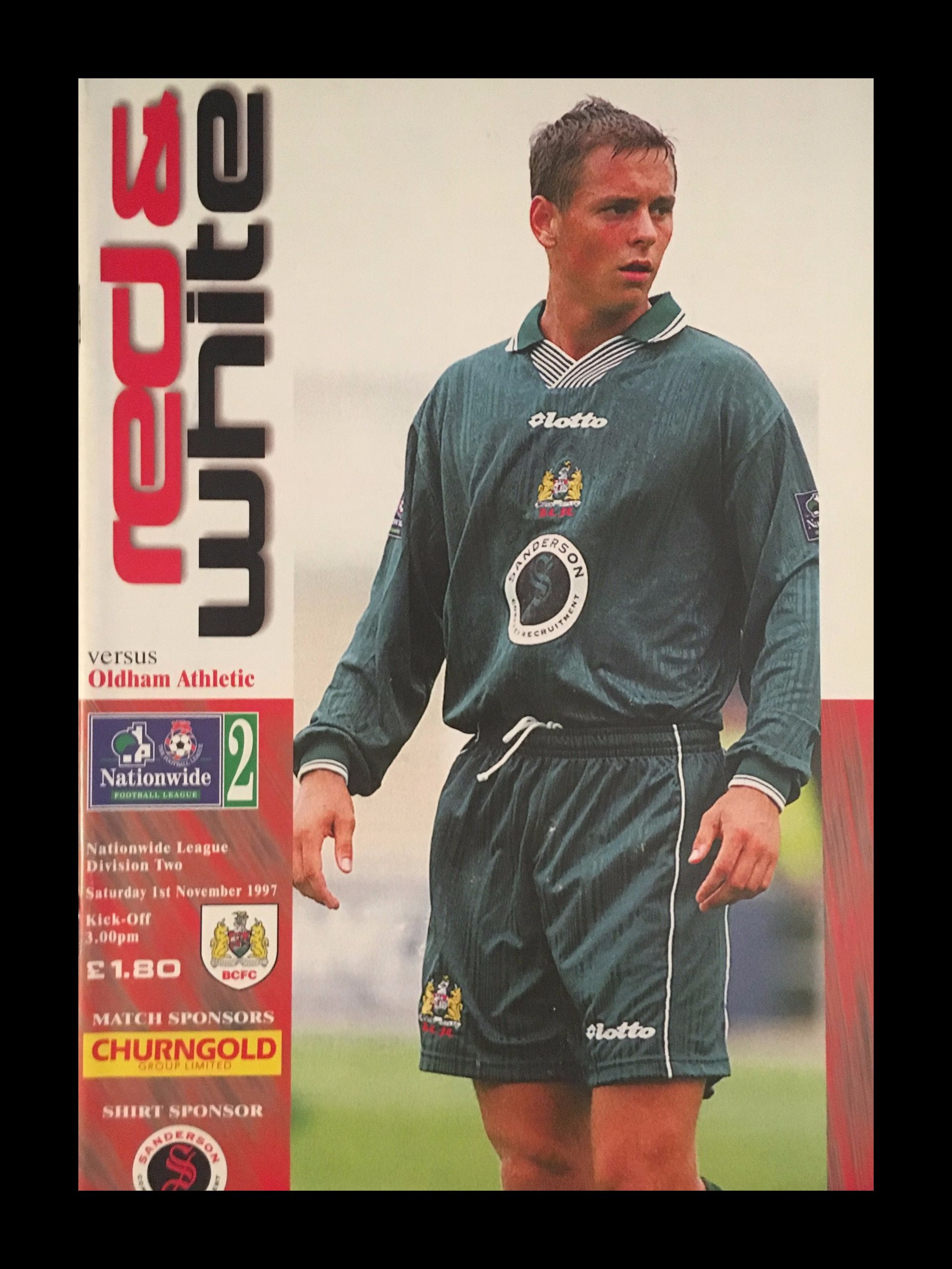 Bristol City v Oldham Athletic 01-11-1997 Programme