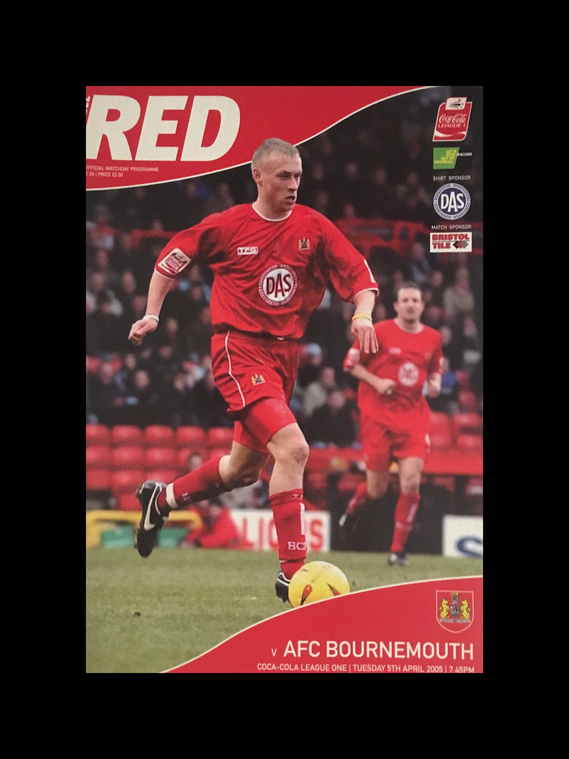 Bristol City v AFC Bournemouth 05-04-2005 Programme