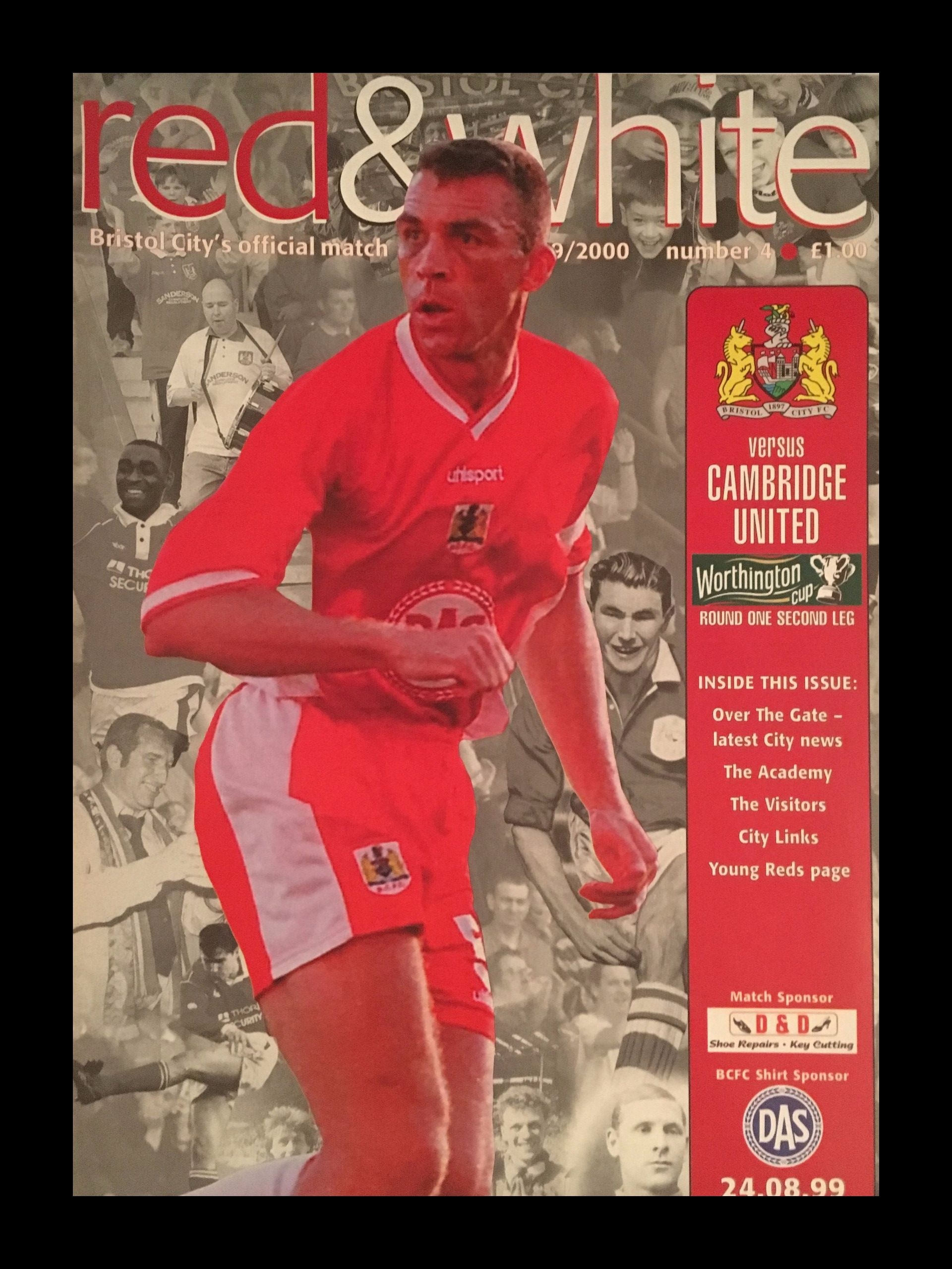Bristol City v Cambridge United 24-08-1999 Programme