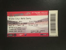 Bristol City v Notts County 18-04-2014 Ticket