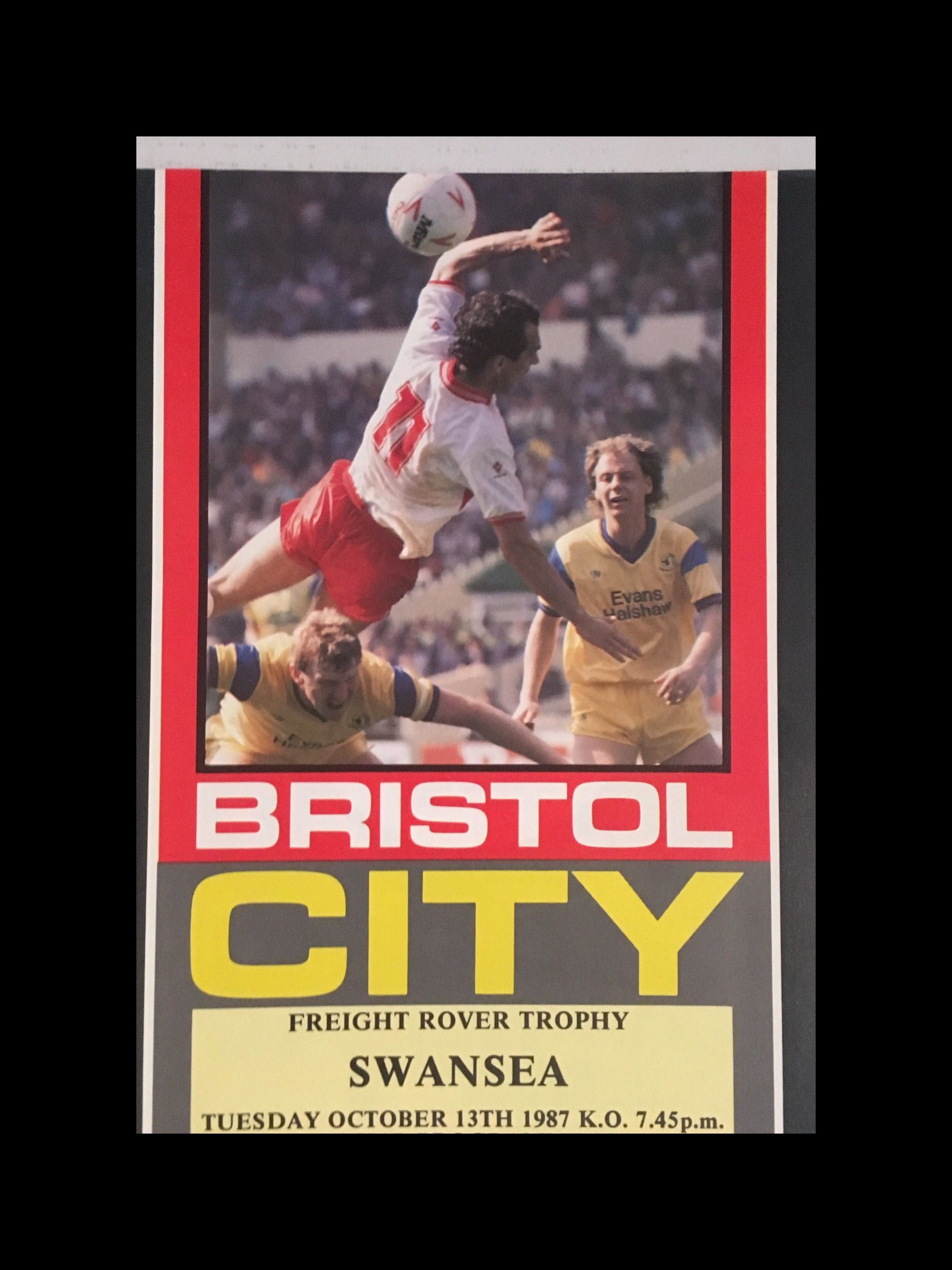 Bristol City v Swansea City 10-11-1987 Programme