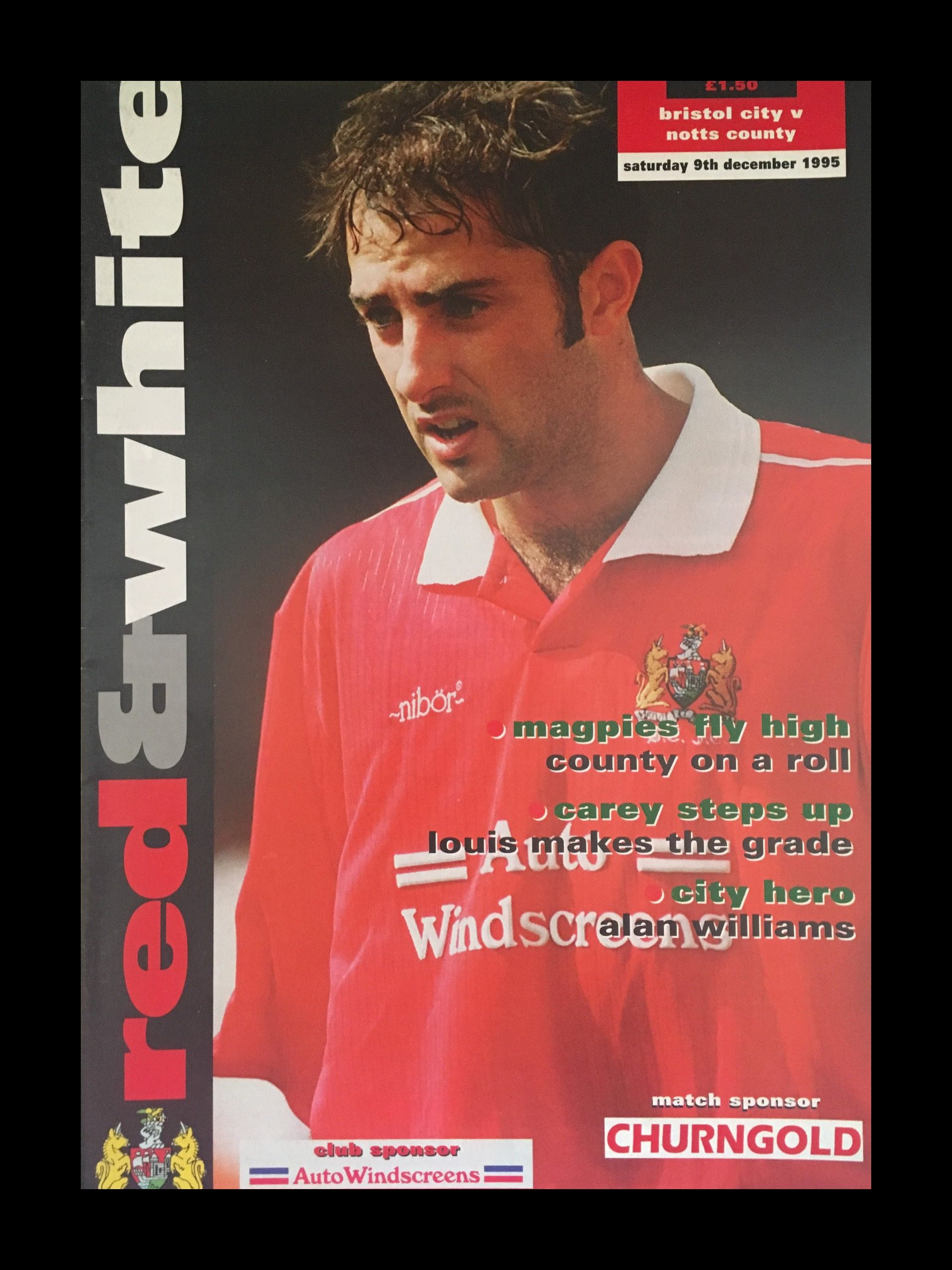 Bristol City v Notts County 09-12-1995 Programme