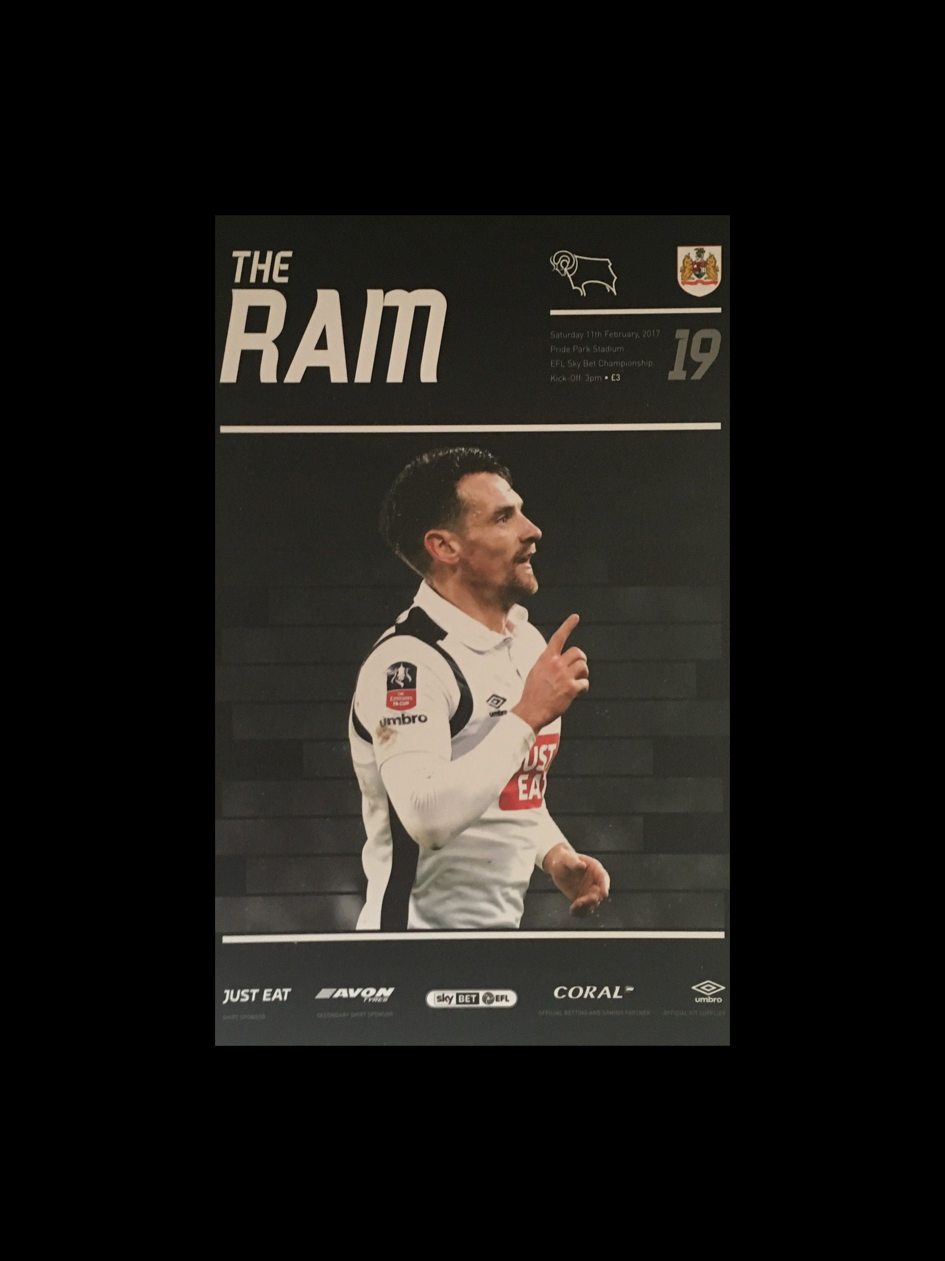 Derby County v Bristol City 11-02-17 Programme