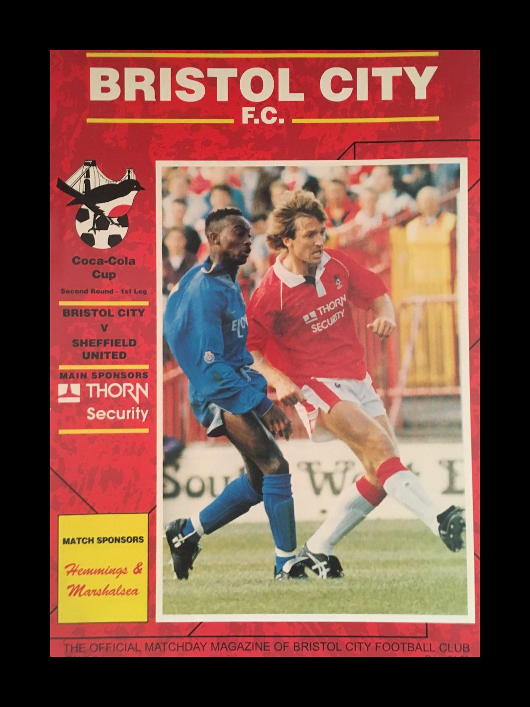Bristol City v Sheffield United 22-09-1992 Programme