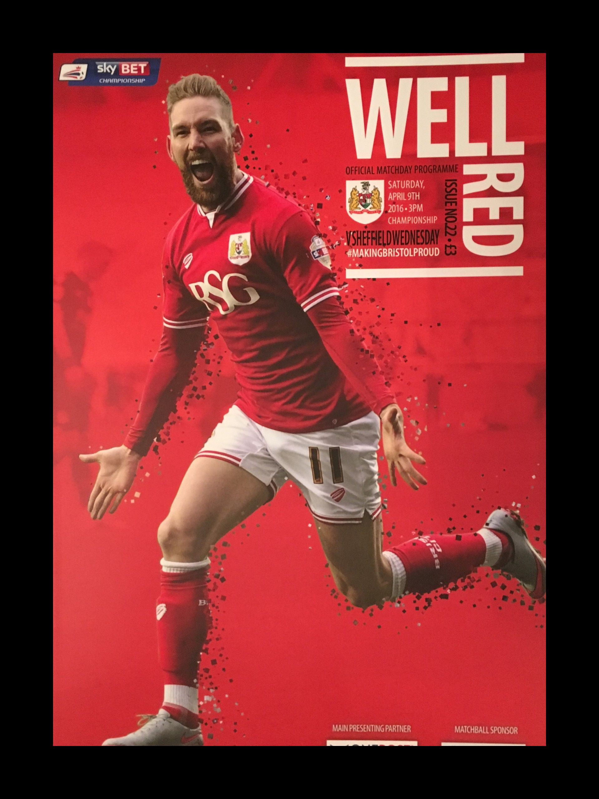 Bristol City v Sheffield Wednesday 09-04-2016 Programme