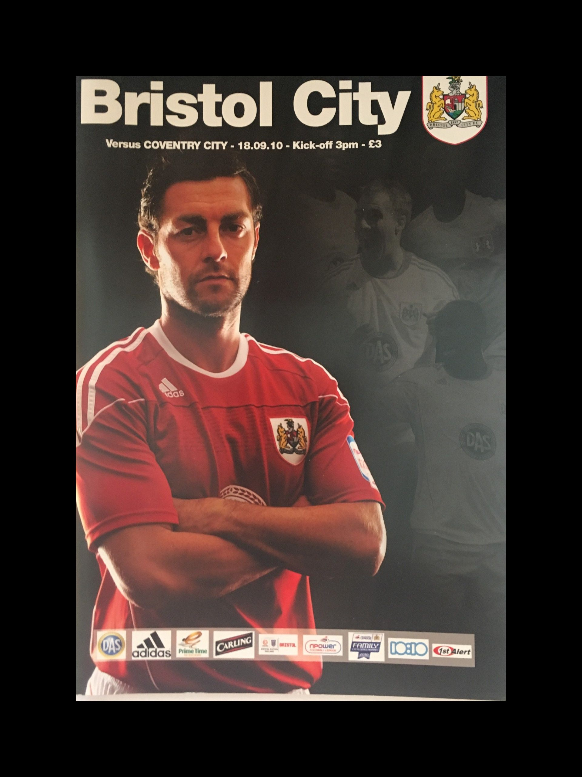Bristol City v Coventry City 18-09-2010 Programme