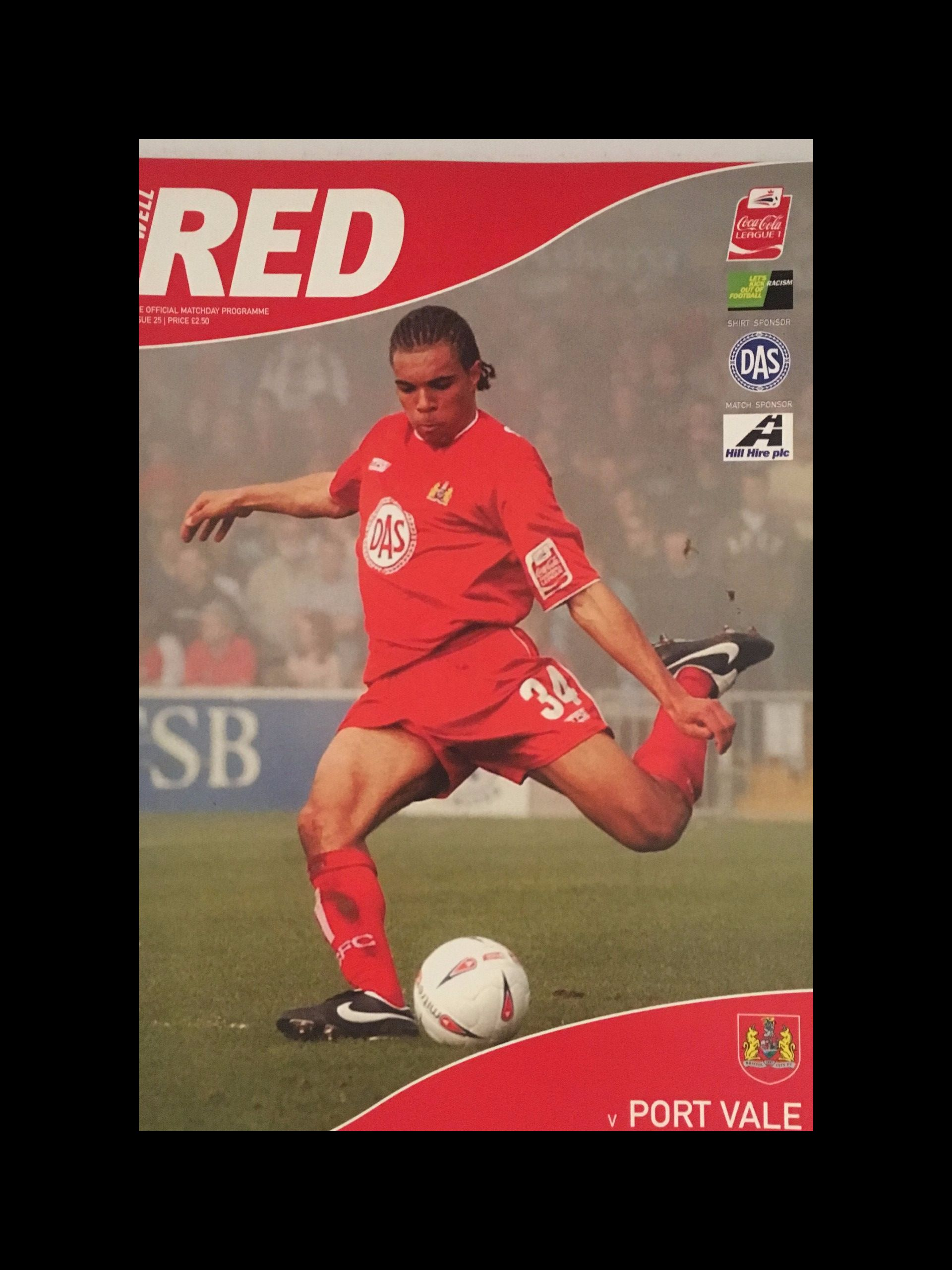 Bristol City v Port Vale 02-04-2005 Programme