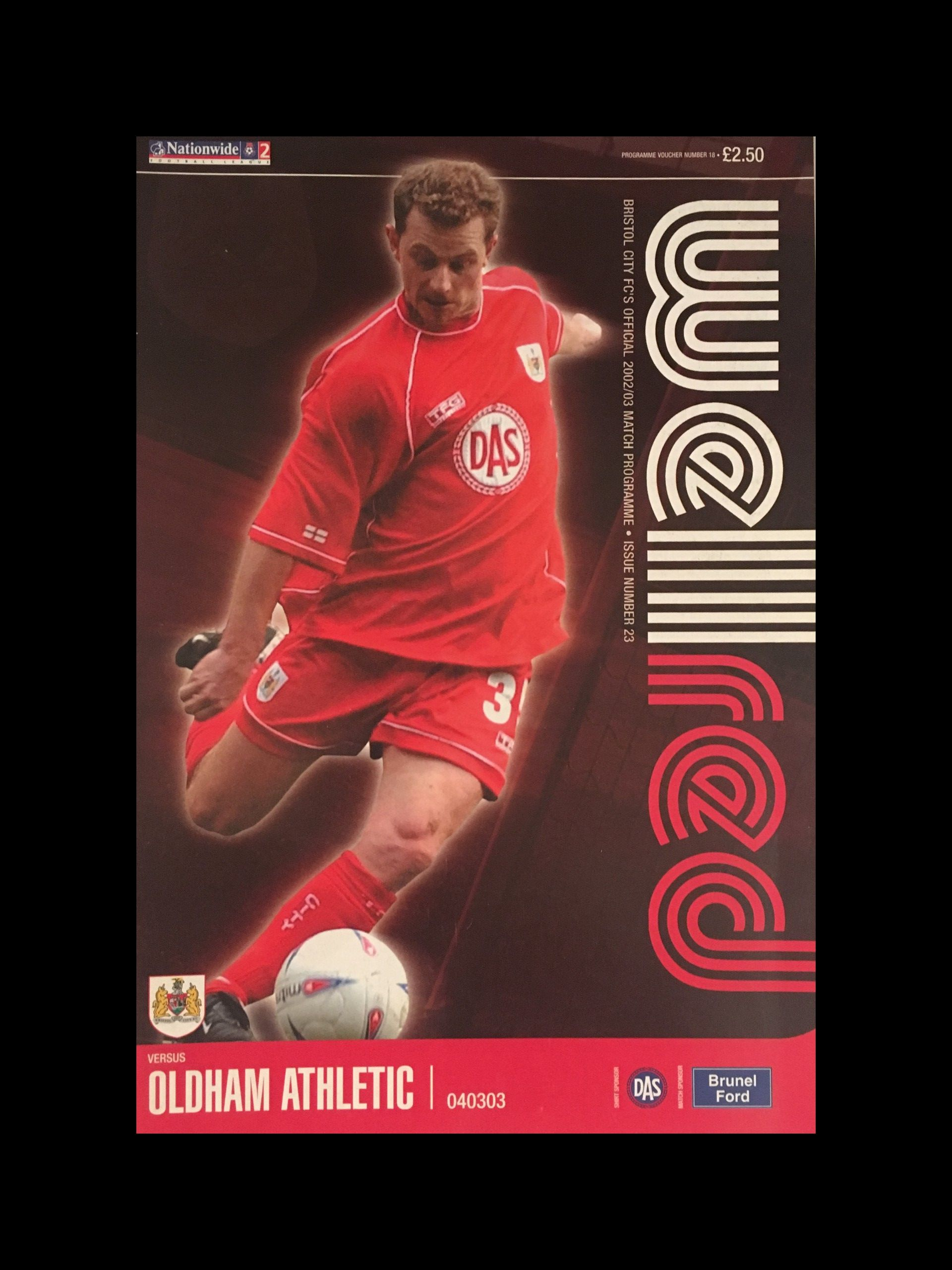 Bristol City v Oldham Athletic 04-03-2003 Programme