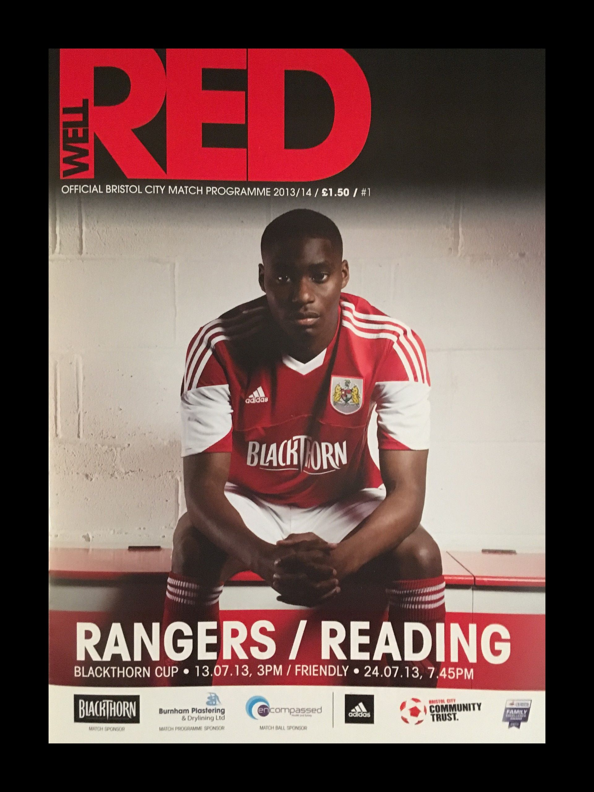Bristol City v Reading 24-07-2013 Programme