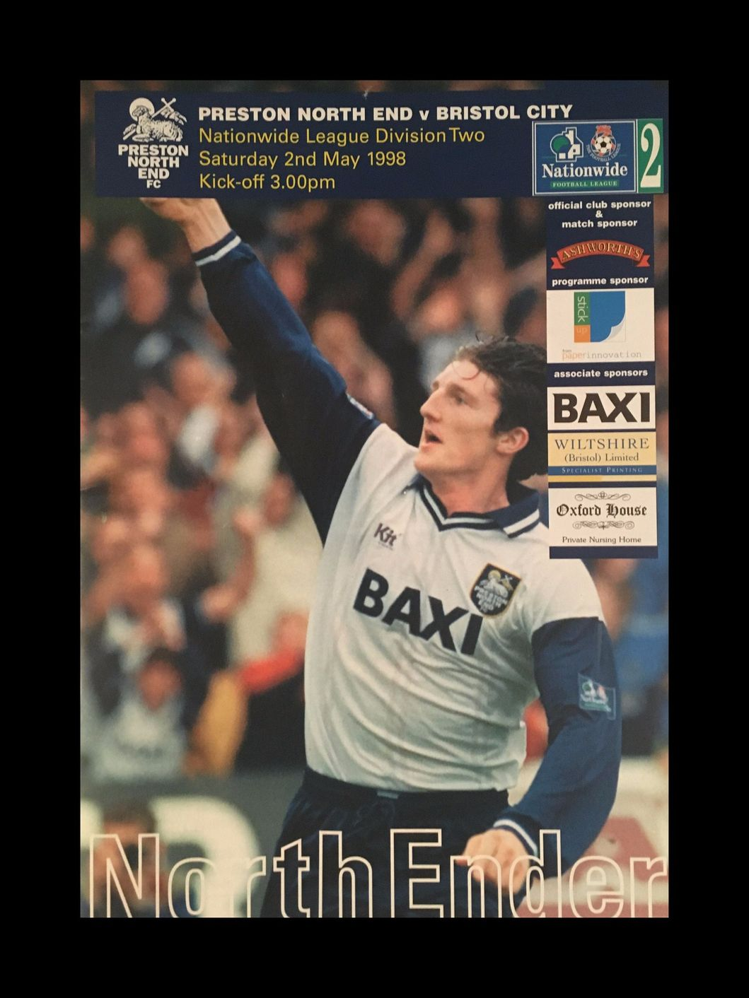 Preston North End v Bristol City 02-05-1998 Programme