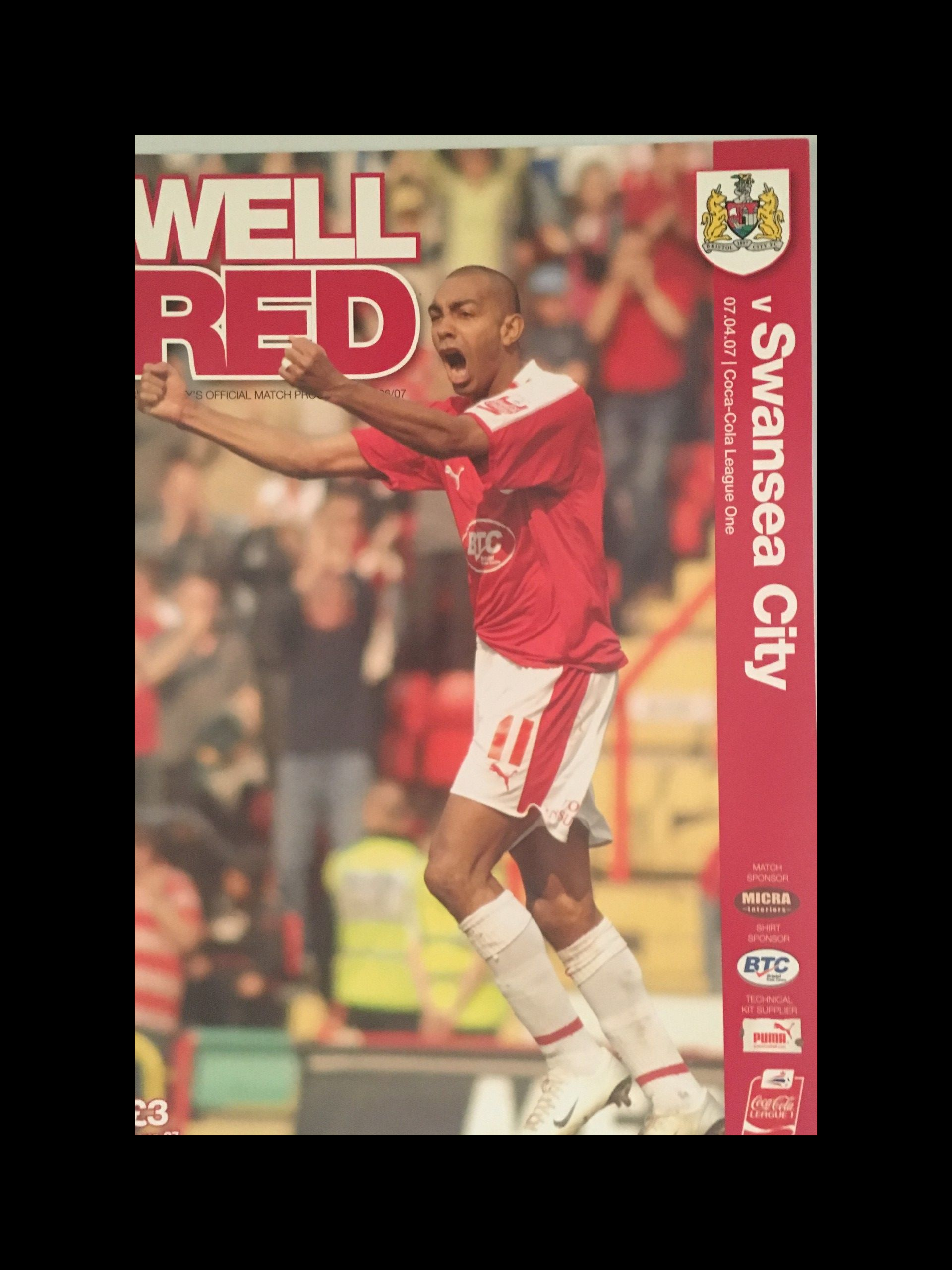 Bristol City v Swansea City 07-04-2007 Programme