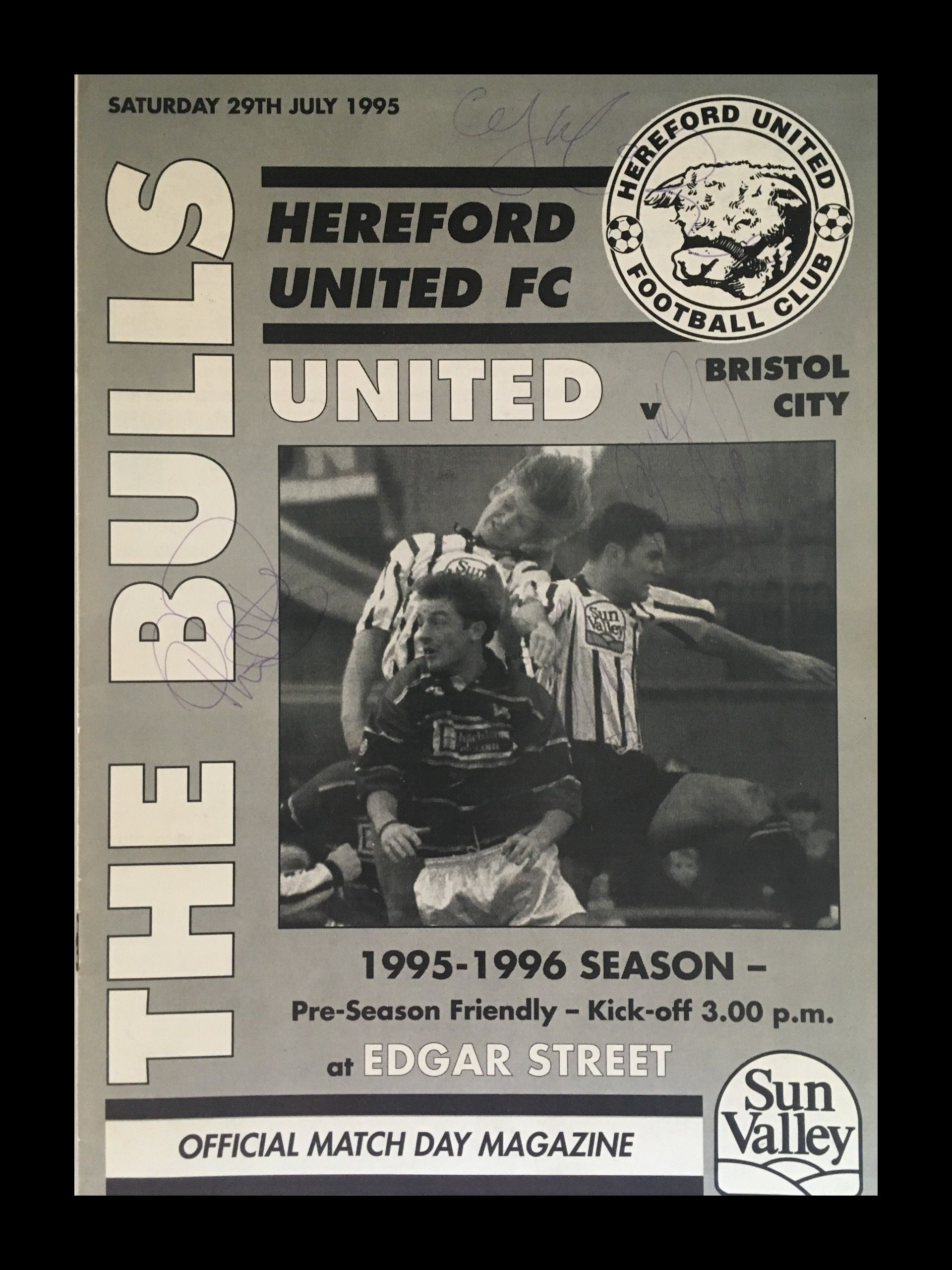 Hereford United v Bristol City 29-07-1995 Programme