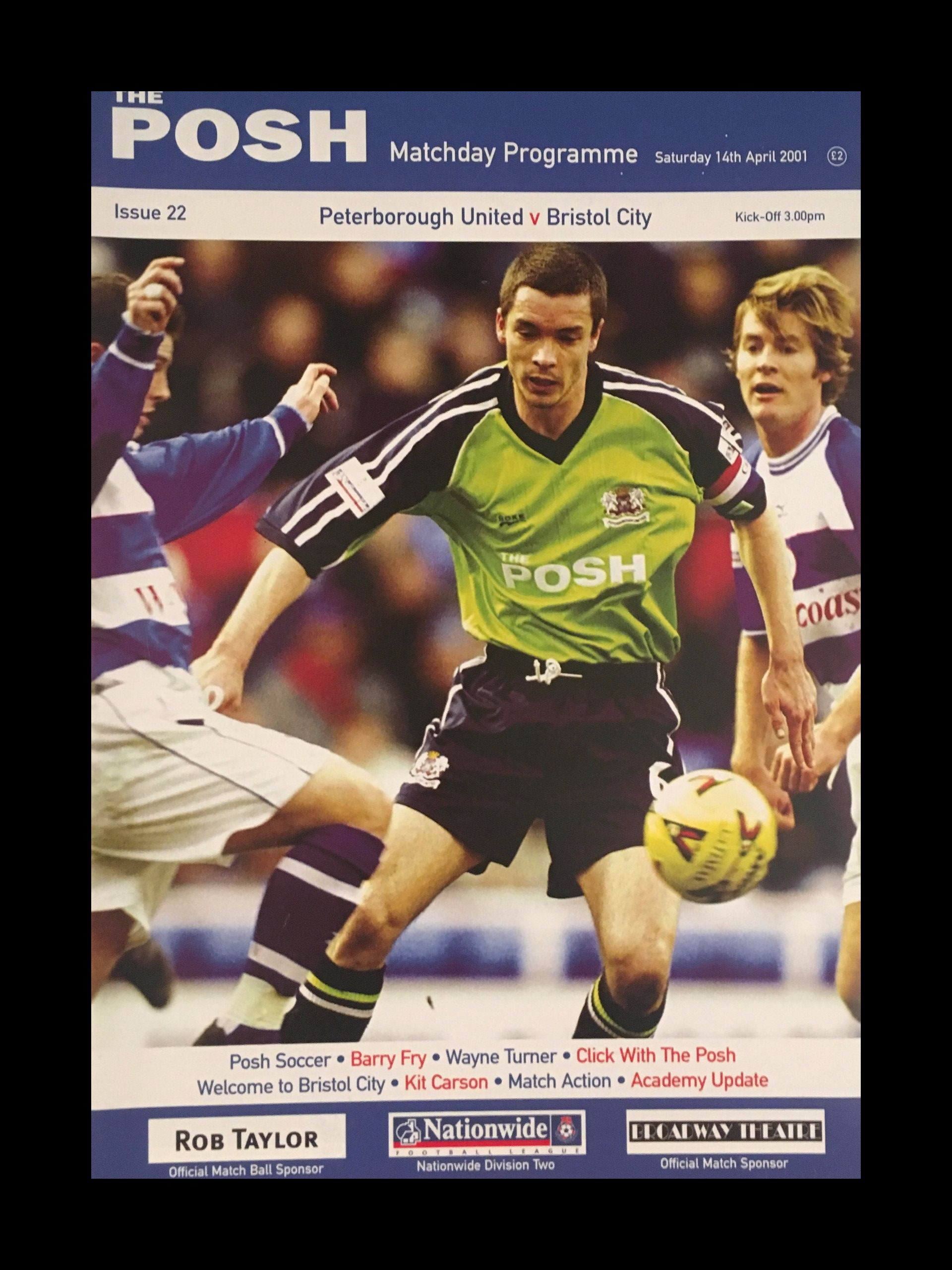 Peterborough United v Bristol City 14-04-2001 Programme