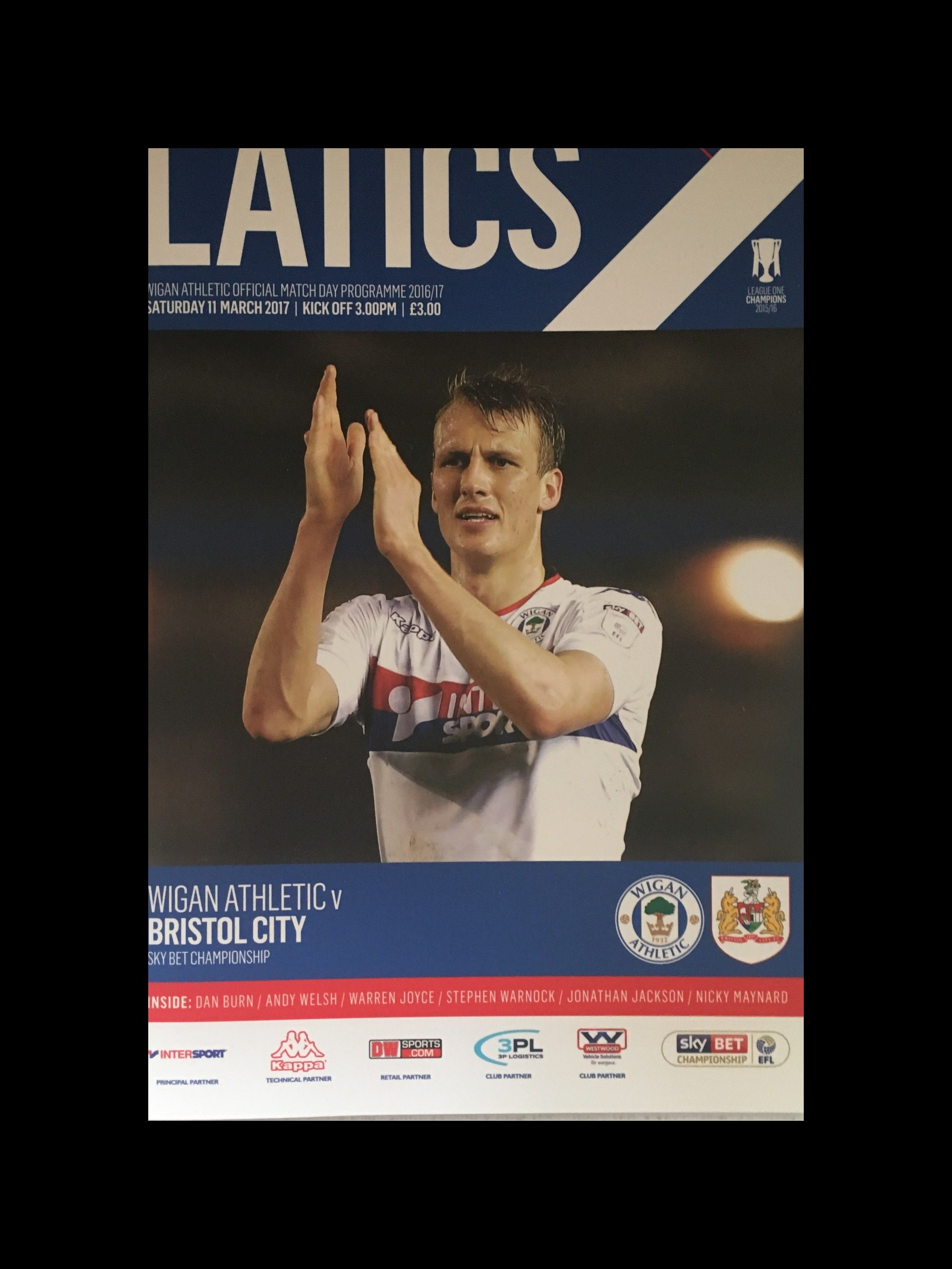Wigan Athletic v Bristol City 11-03-17 Programme