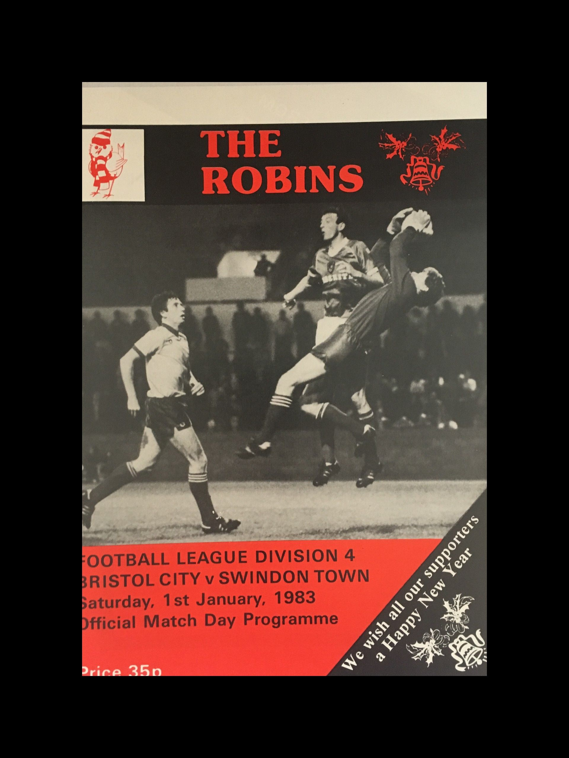 Bristol City v Swindon Town 01-01-83 Programme