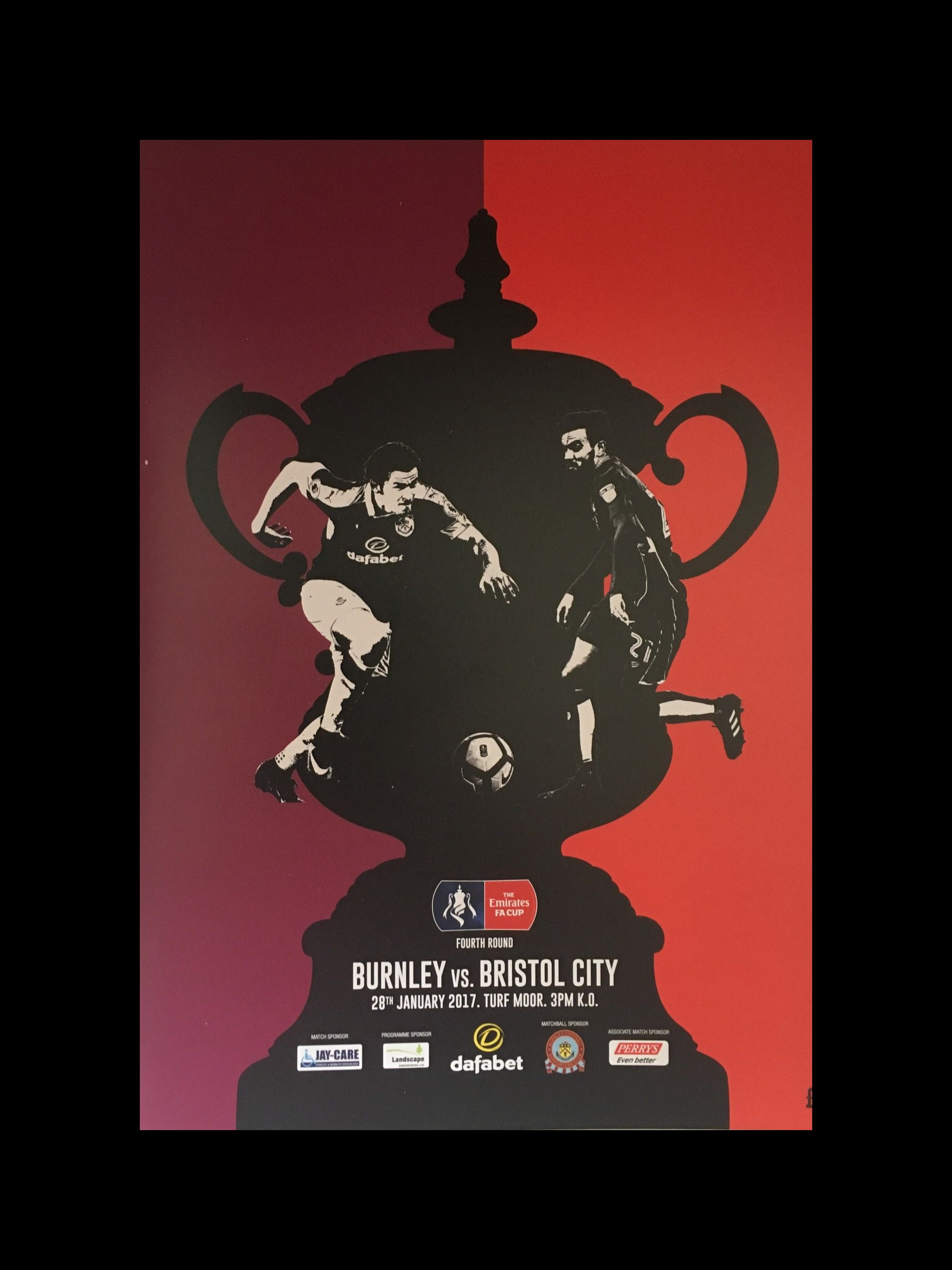 Burnley v Bristol City 28-01-17 Programme