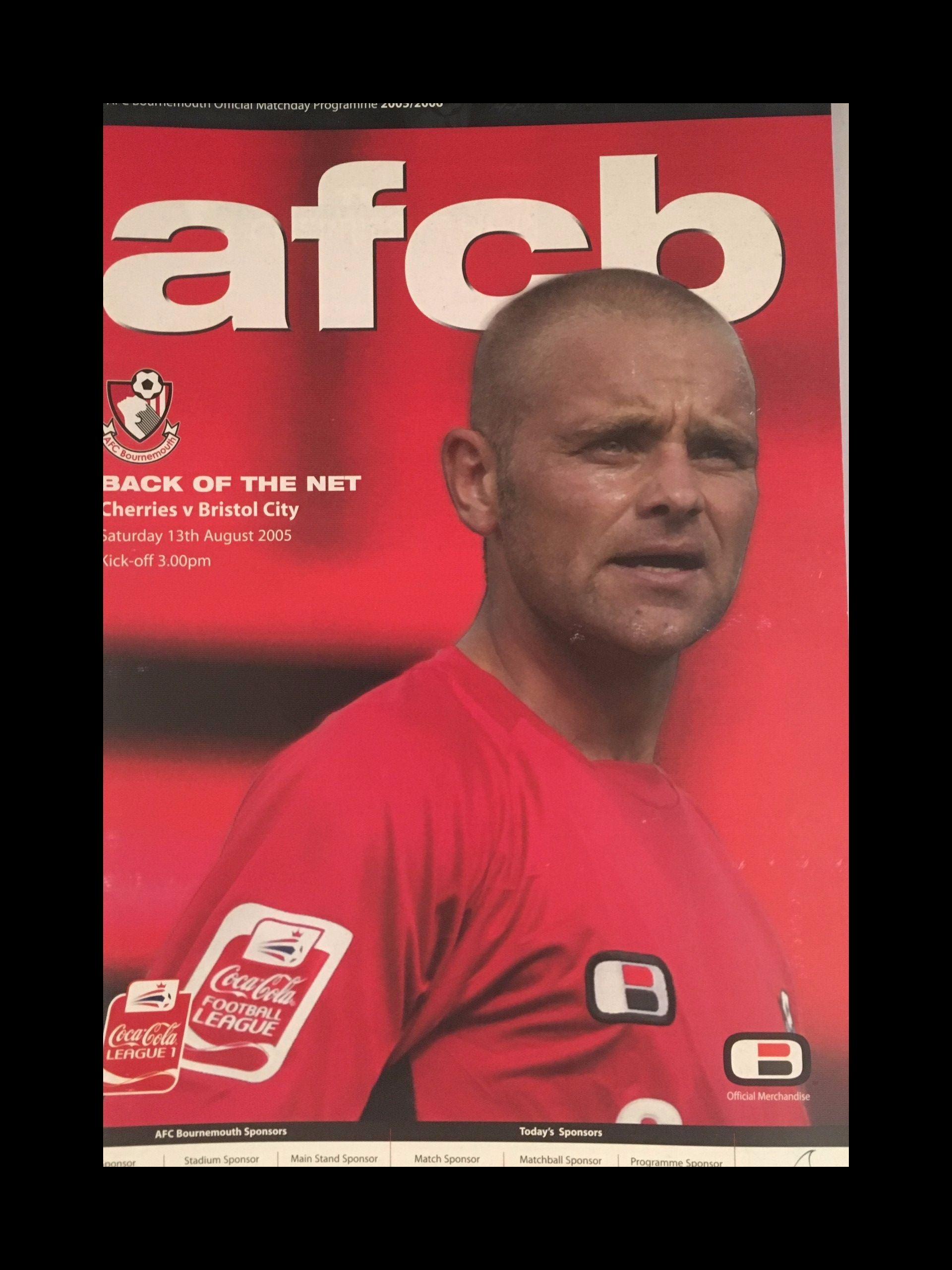 AFC Bournemouth v Bristol City 13-08-2005 Programme