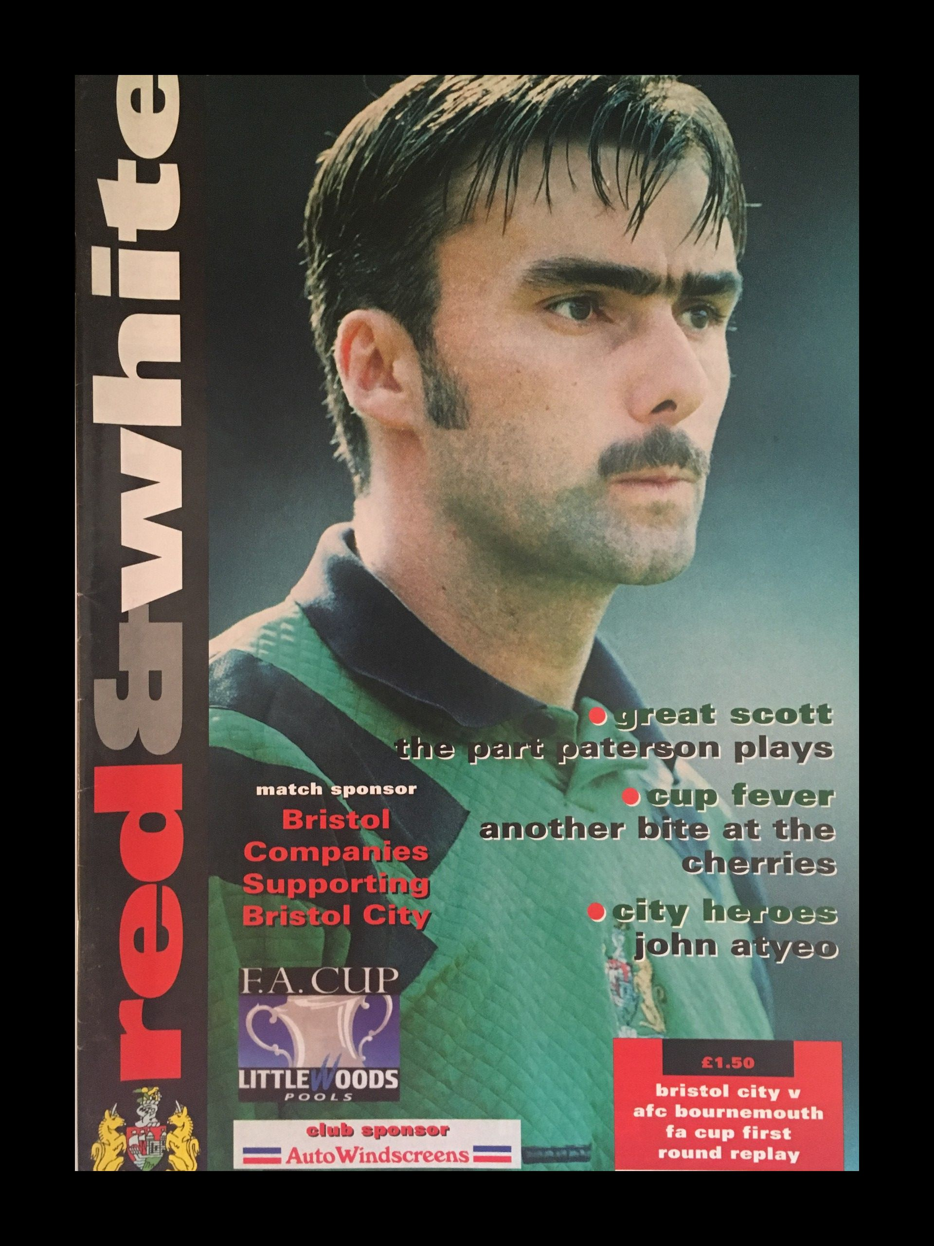 Bristol City v AFC Bournemouth 21-11-1995 Programme