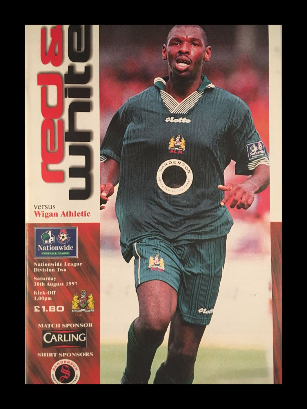 Bristol City v Wigan Athletic 30-08-1997 Programme