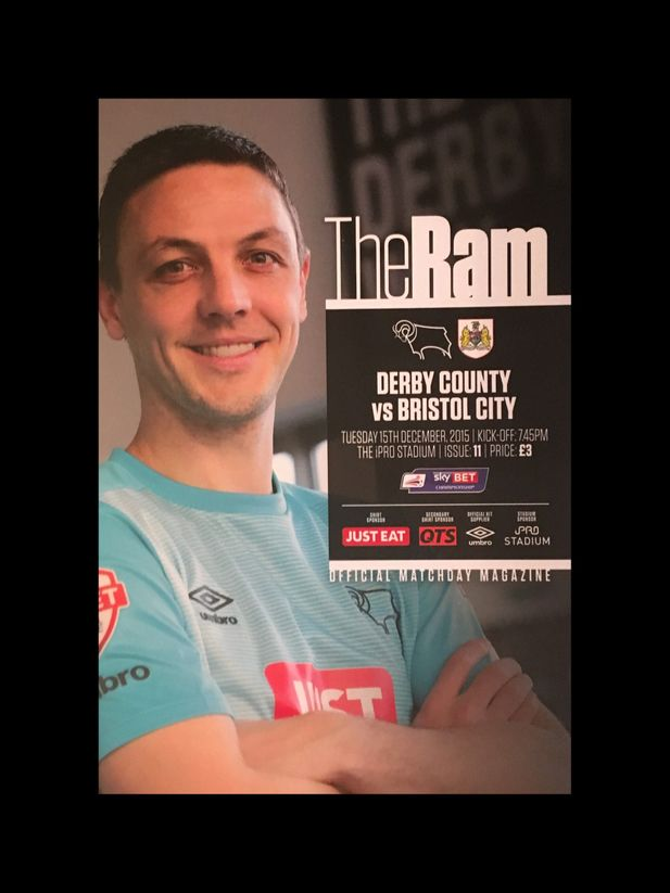 Derby County v Bristol City 15-12-2015 Programme