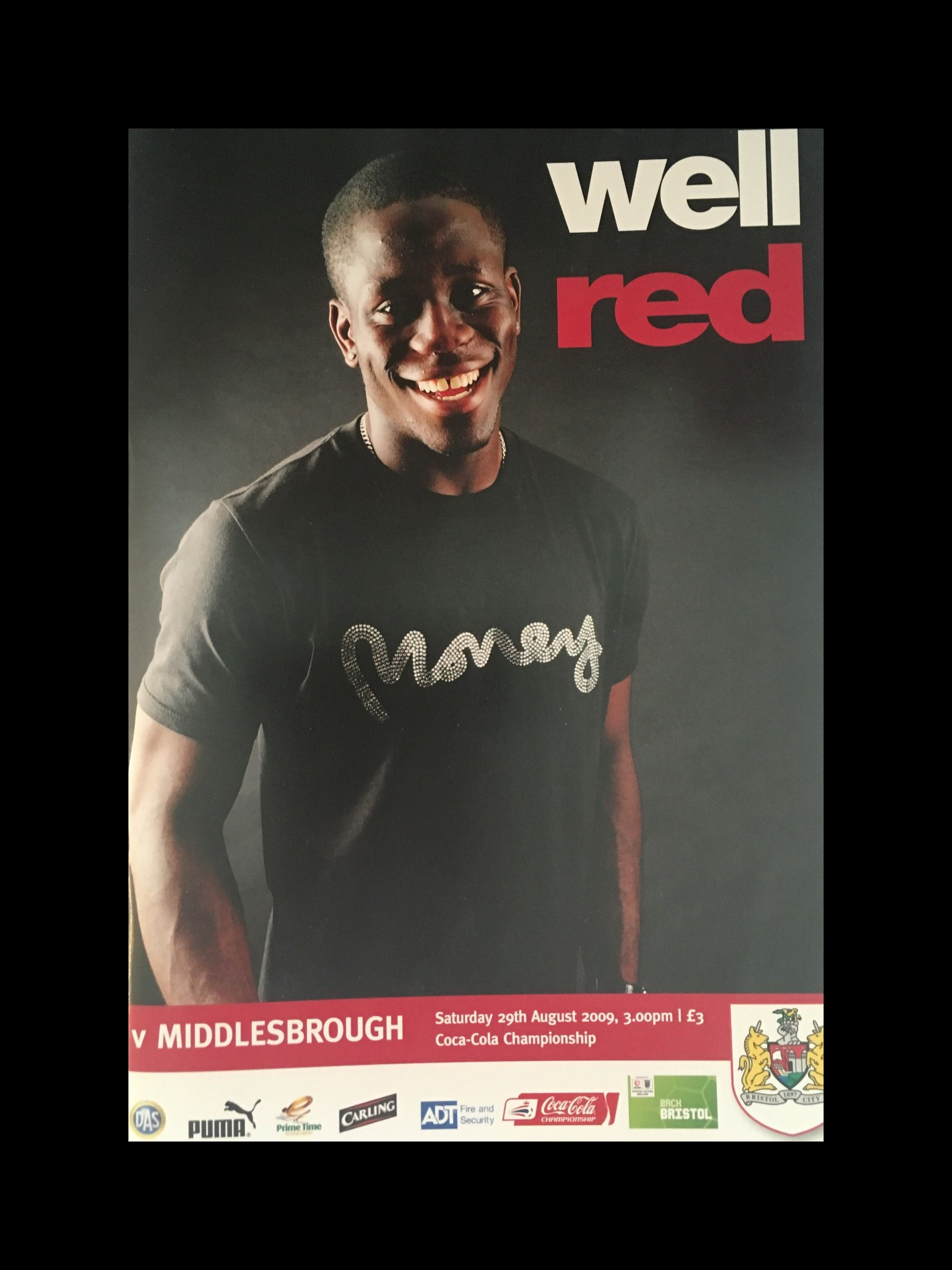 Bristol City v Middlesbrough 29-08-2009 Programme