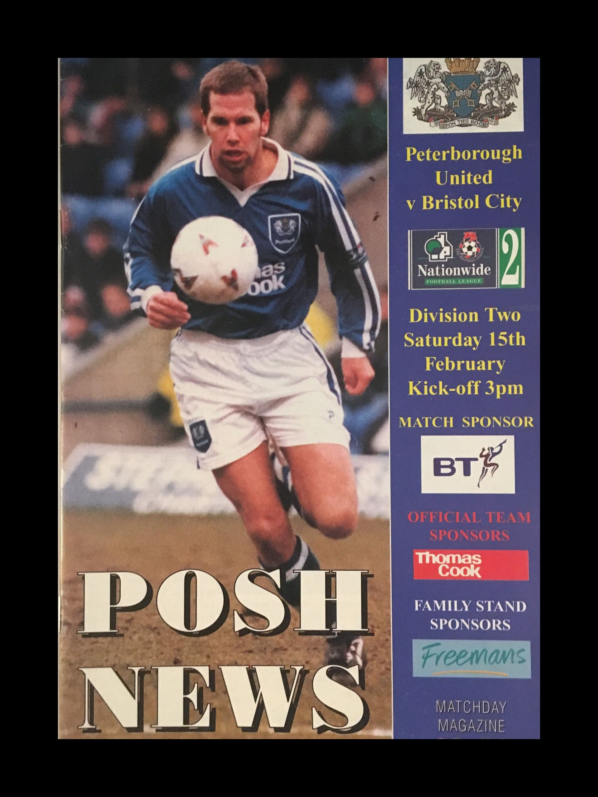 Peterborough United v Bristol City 15-02-1997 Programme