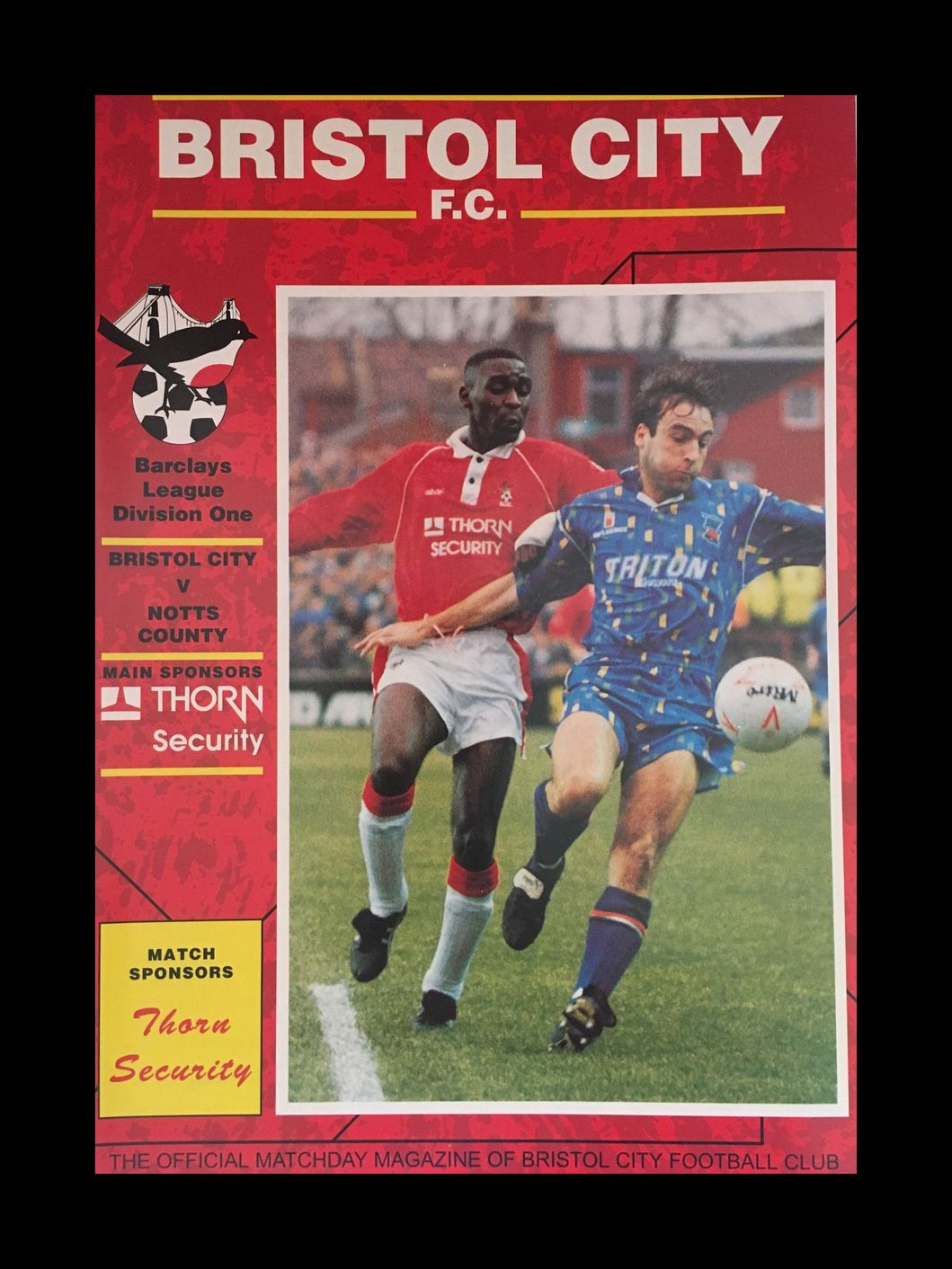 Bristol City v Notts County 28-11-1992 Programme
