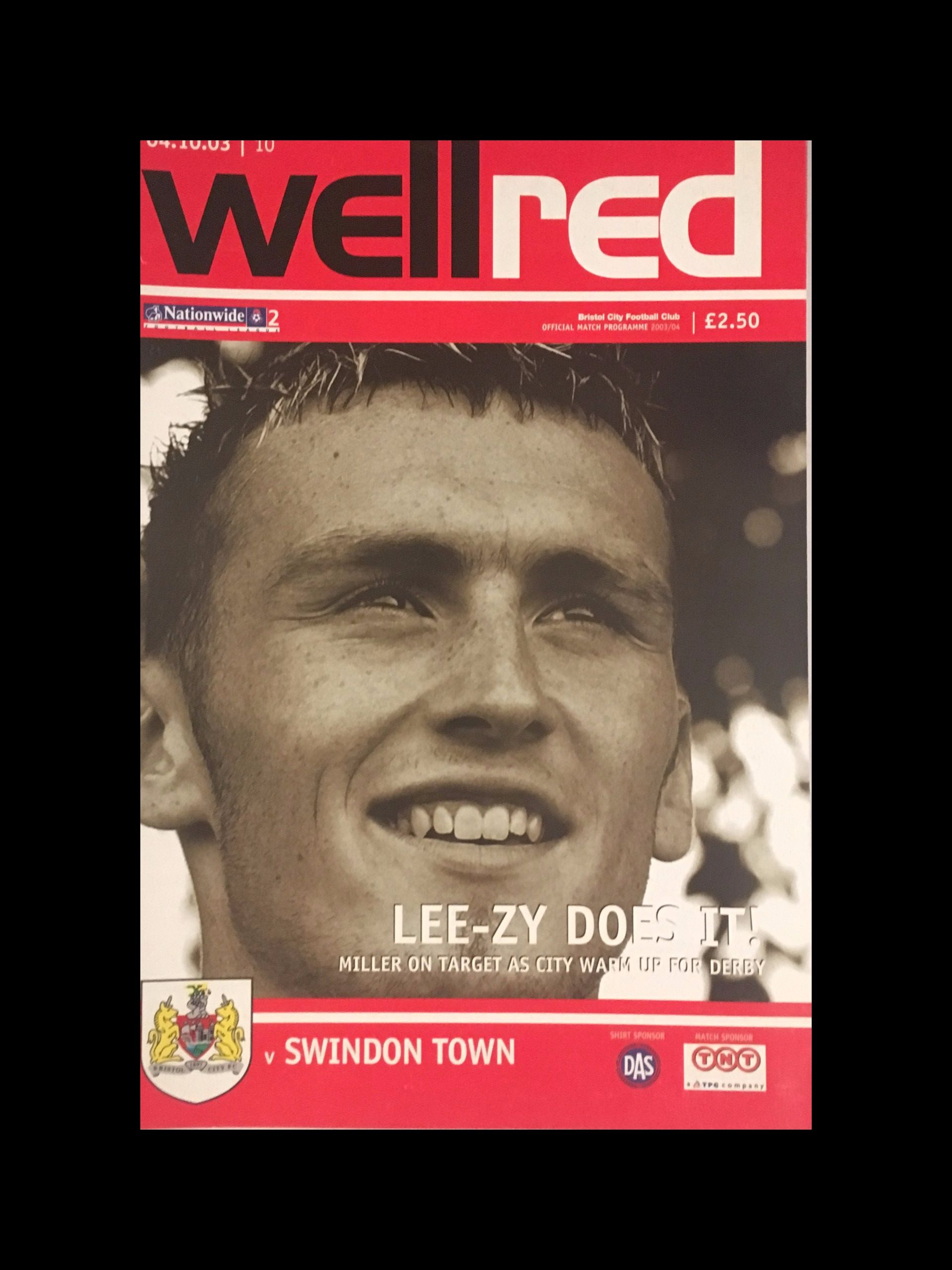 Bristol City v Swindon Town 04-10-2003 Programme