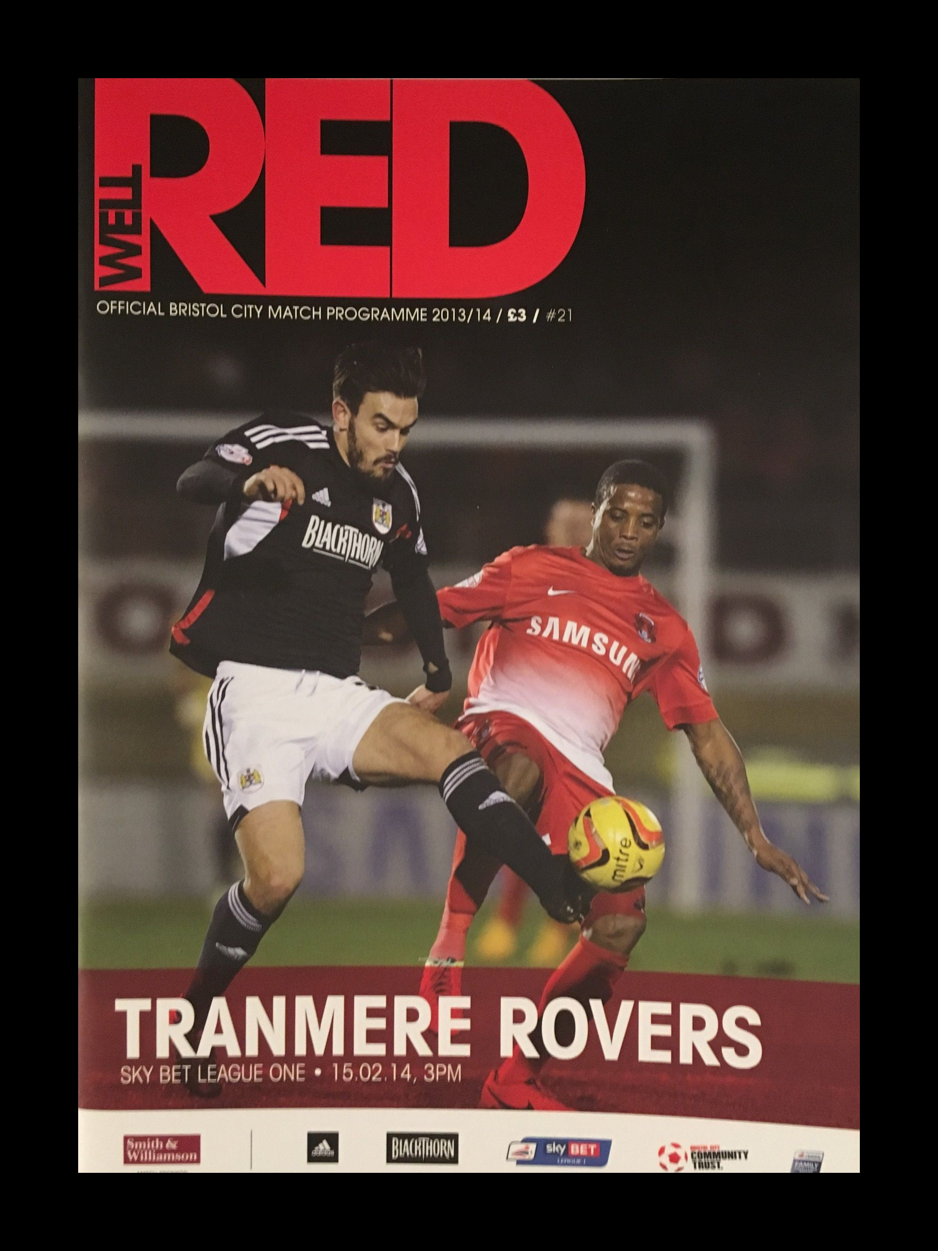 Bristol City v Tranmere Rovers 15-02-2014 Programme