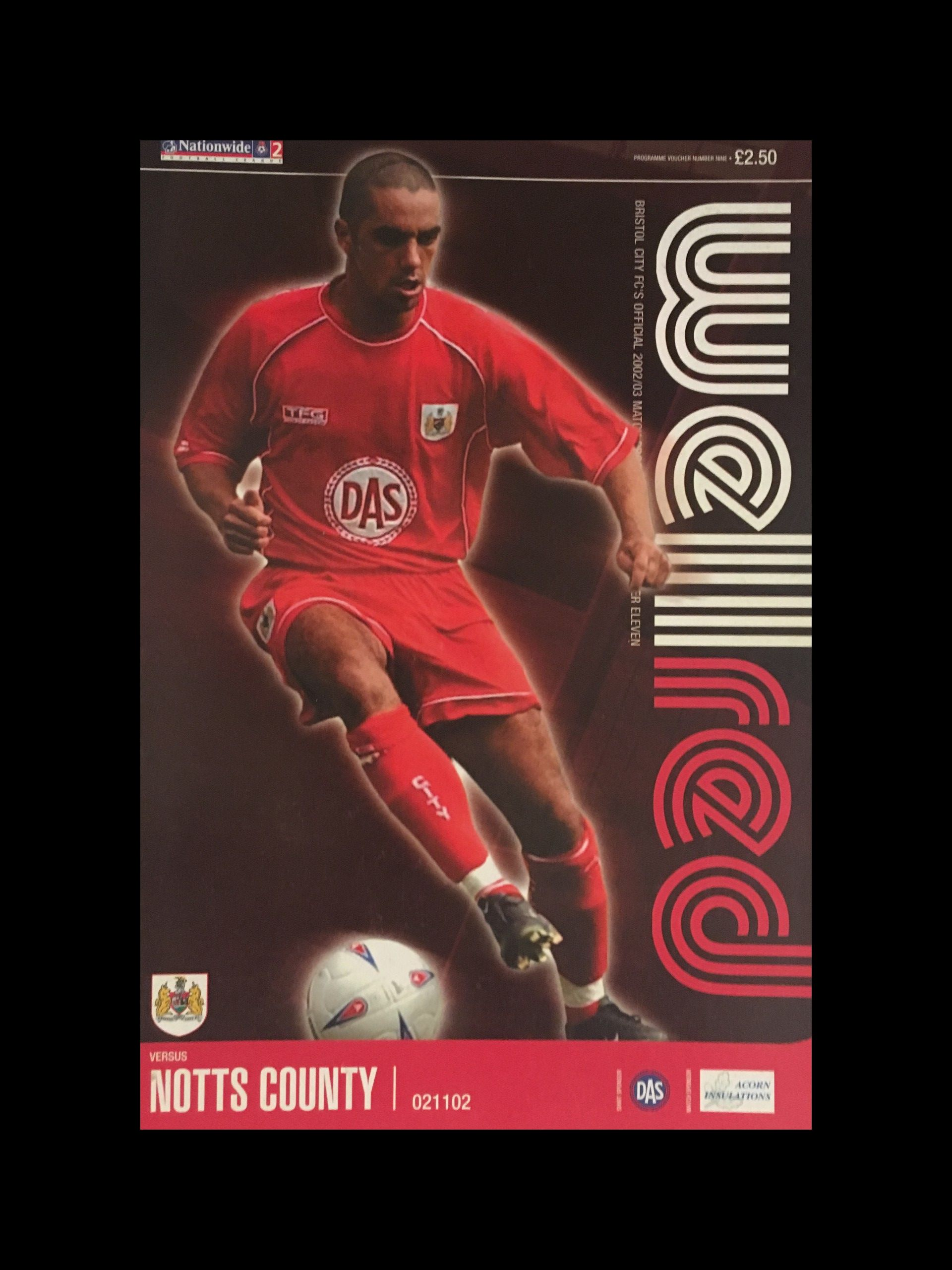 Bristol City v Notts County 02-11-2002 Programme