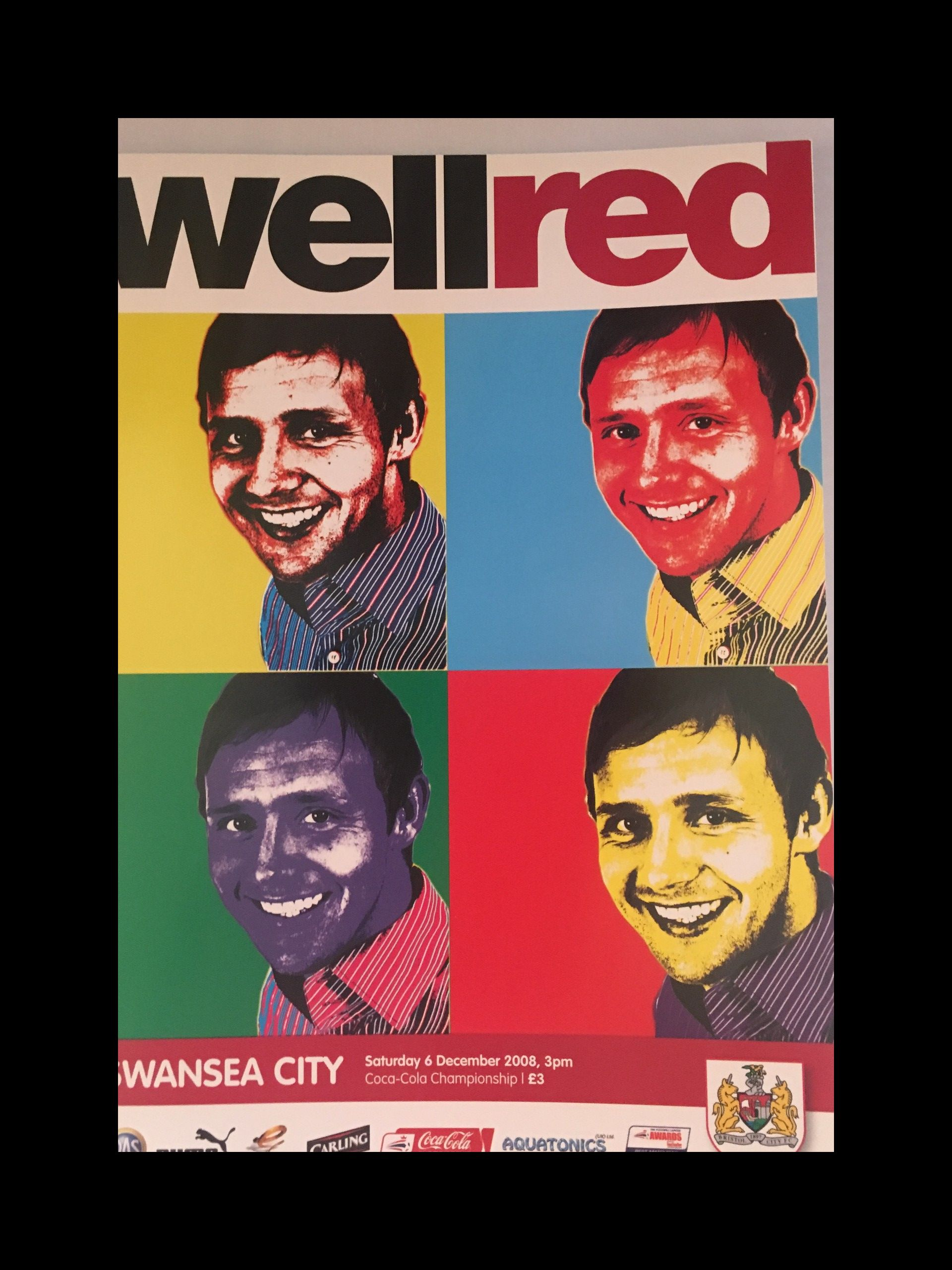 Bristol City v Swansea City 06-12-2008 Programme