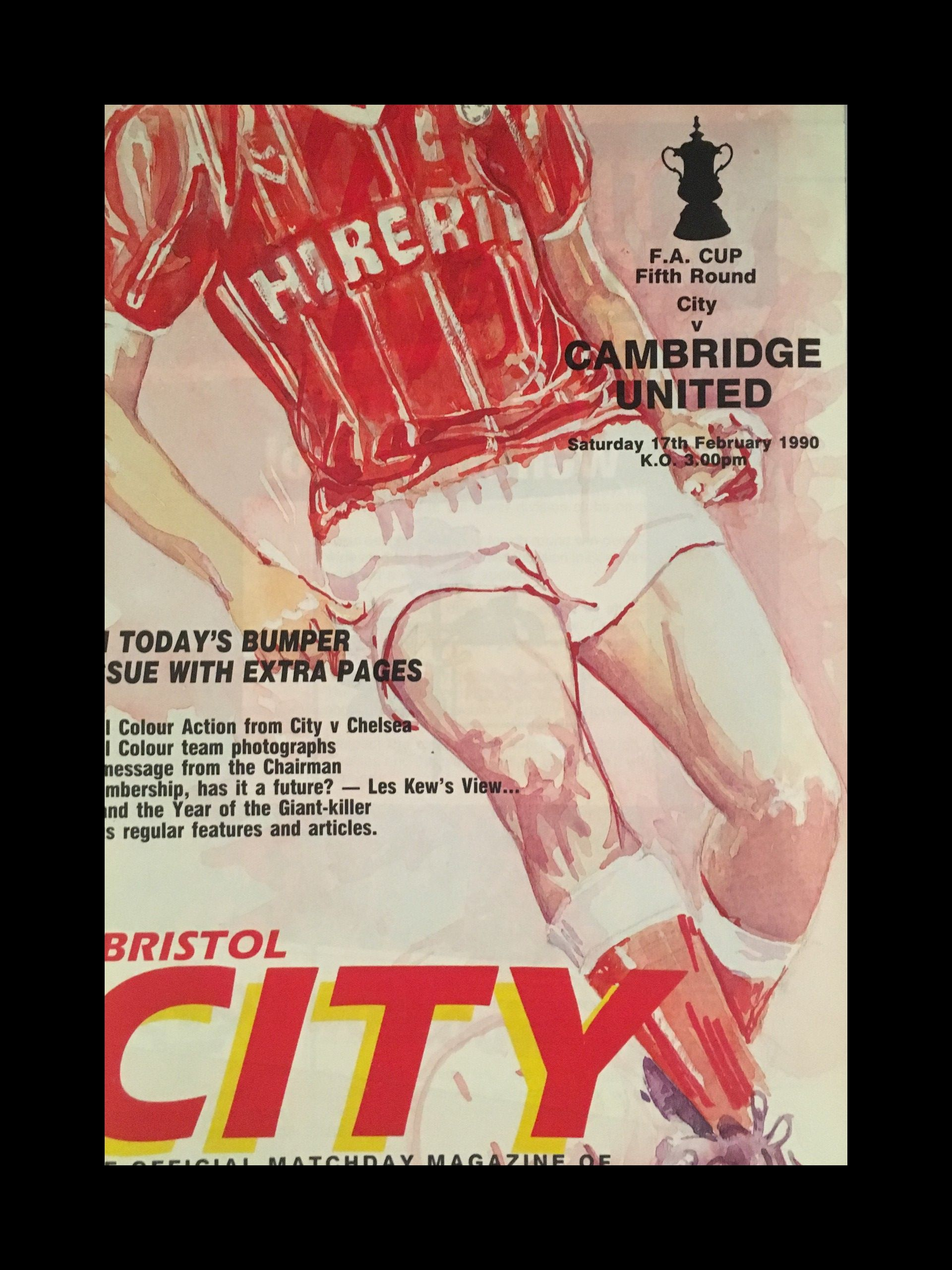 Bristol City v Cambridge United 17-02-1990 Programme