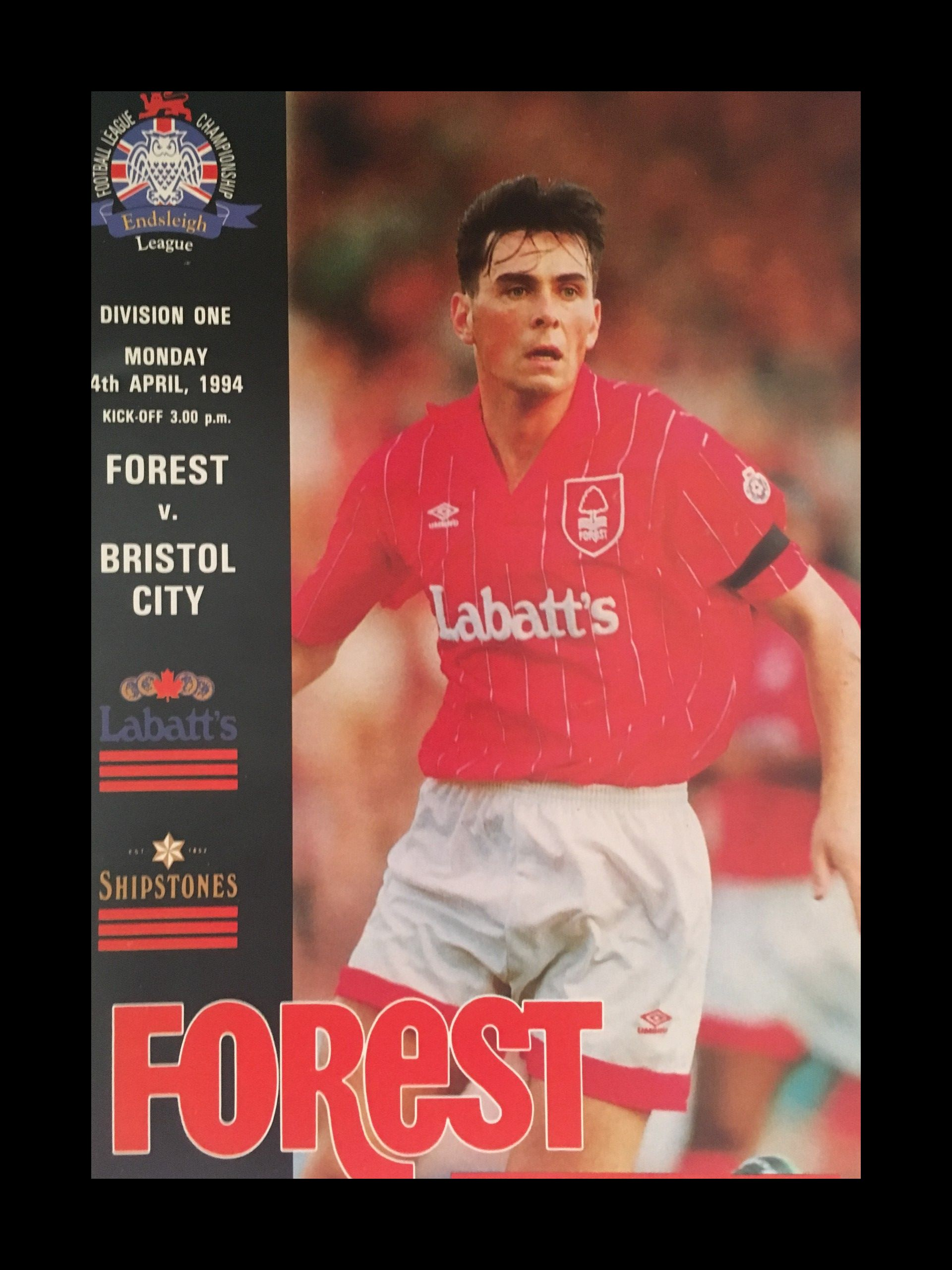 Nottingham Forest v Bristol City 04-04-1994 Programme