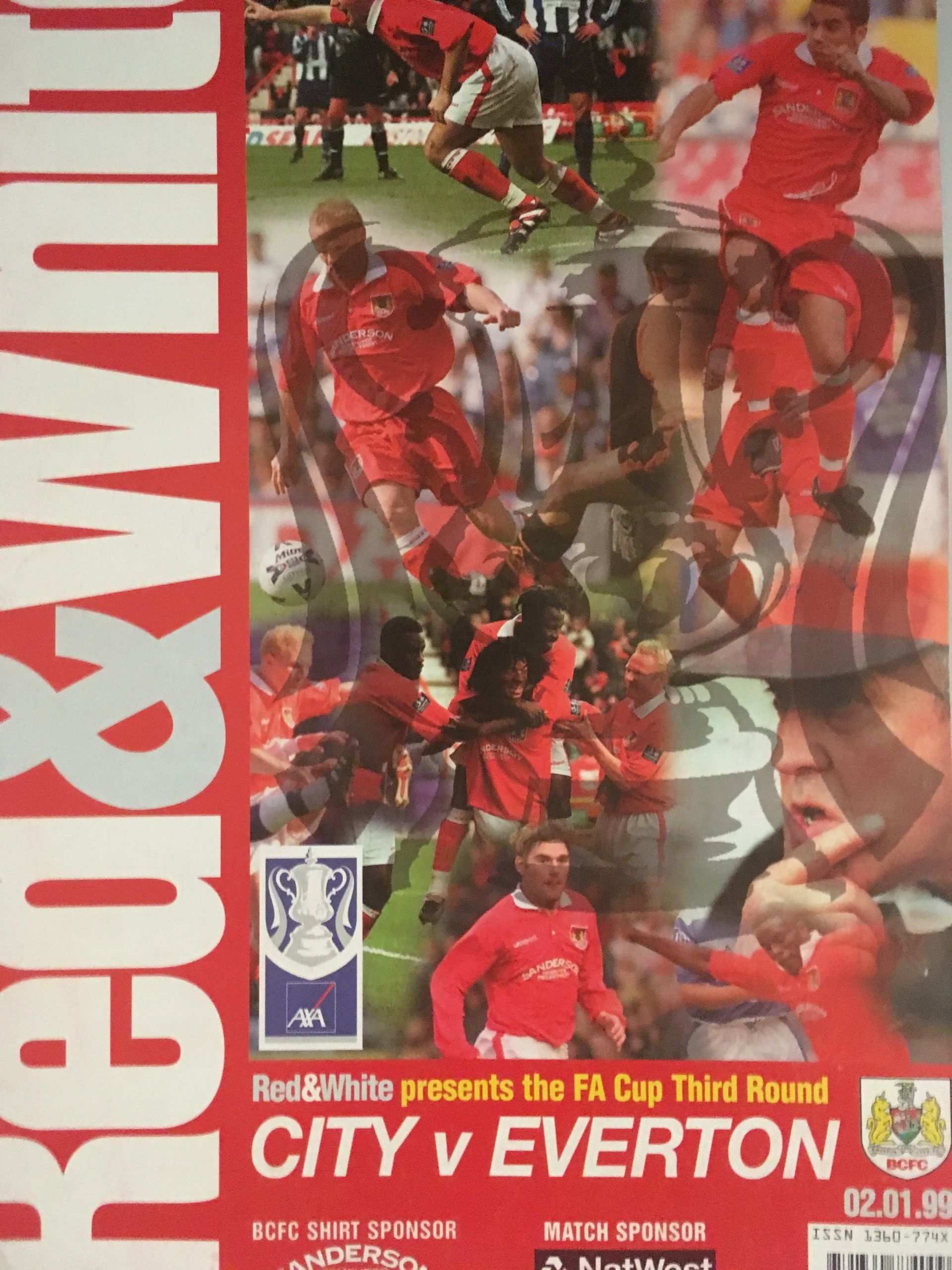Bristol City v Everton 02-01-1999 Programme