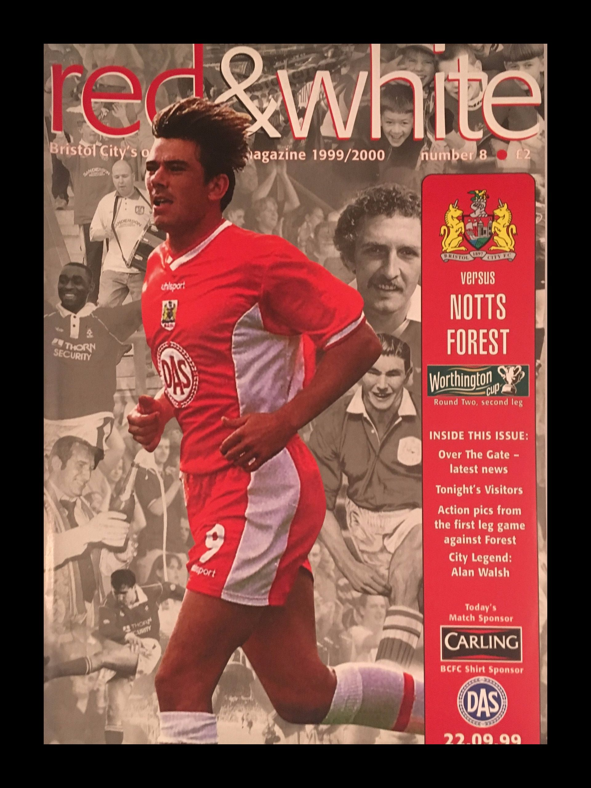 Bristol City v Nottingham Forest 22-09-1999 Programme