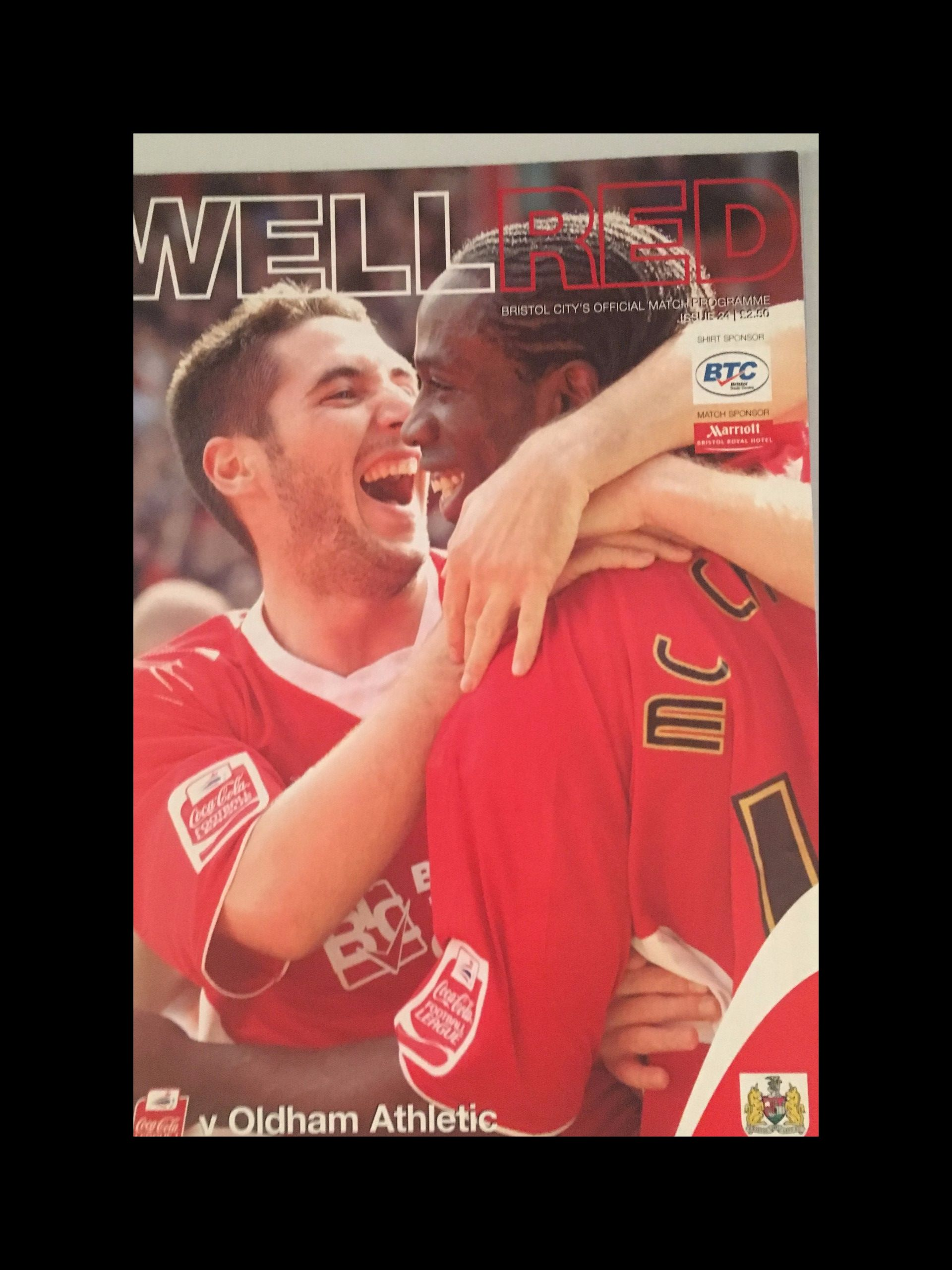 Bristol City v Oldham Athletic 17-04-2006 Programme