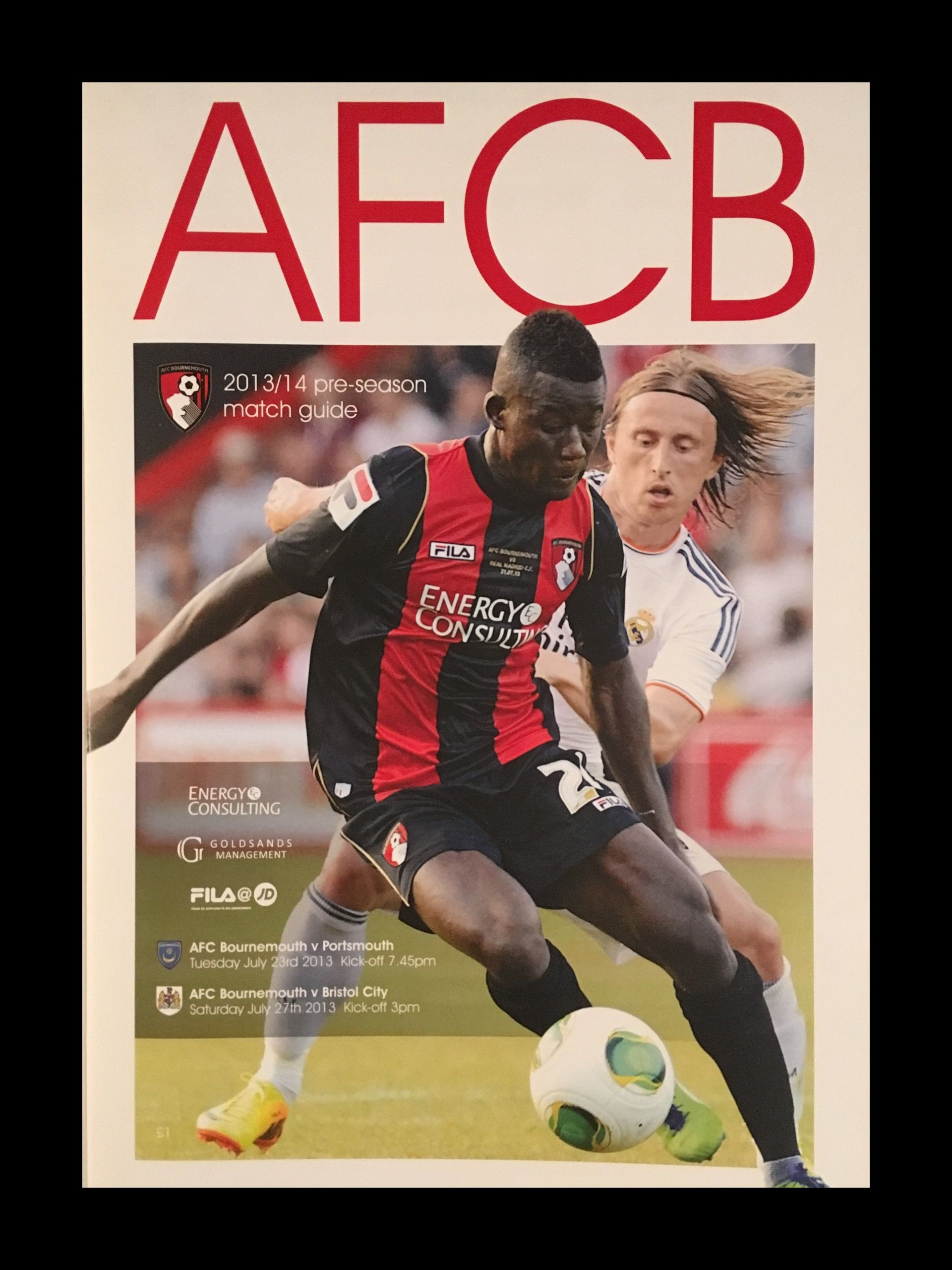 AFC Bournemouth v Bristol City 27-07-2013 Programme
