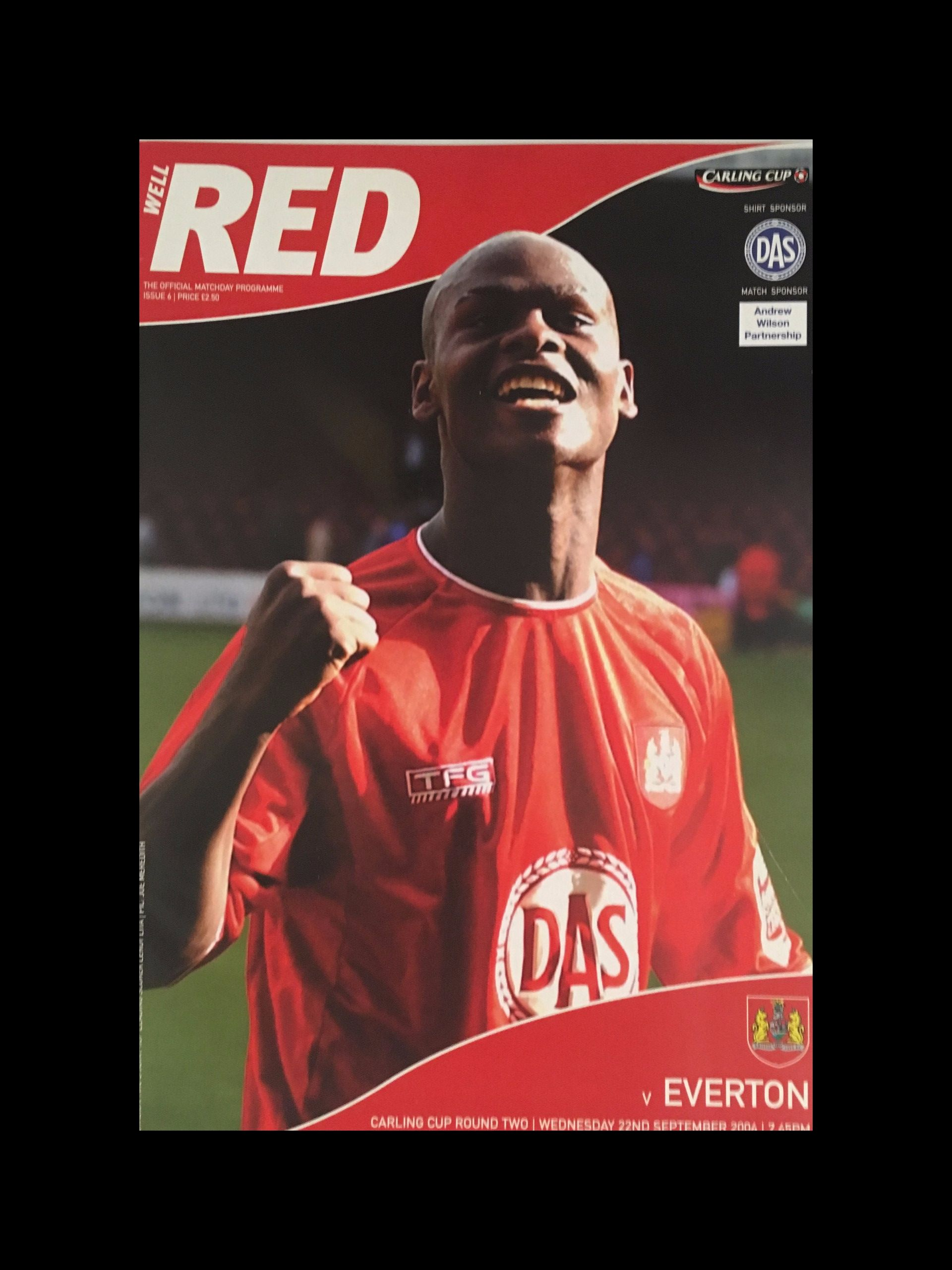 Bristol City v Everton 22-09-2004 Programme